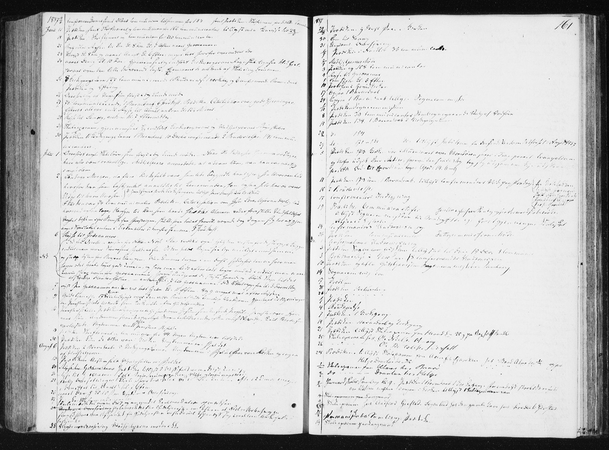 SAT, Ministerialprotokoller, klokkerbøker og fødselsregistre - Nord-Trøndelag, 749/L0470: Ministerialbok nr. 749A04, 1834-1853, s. 161