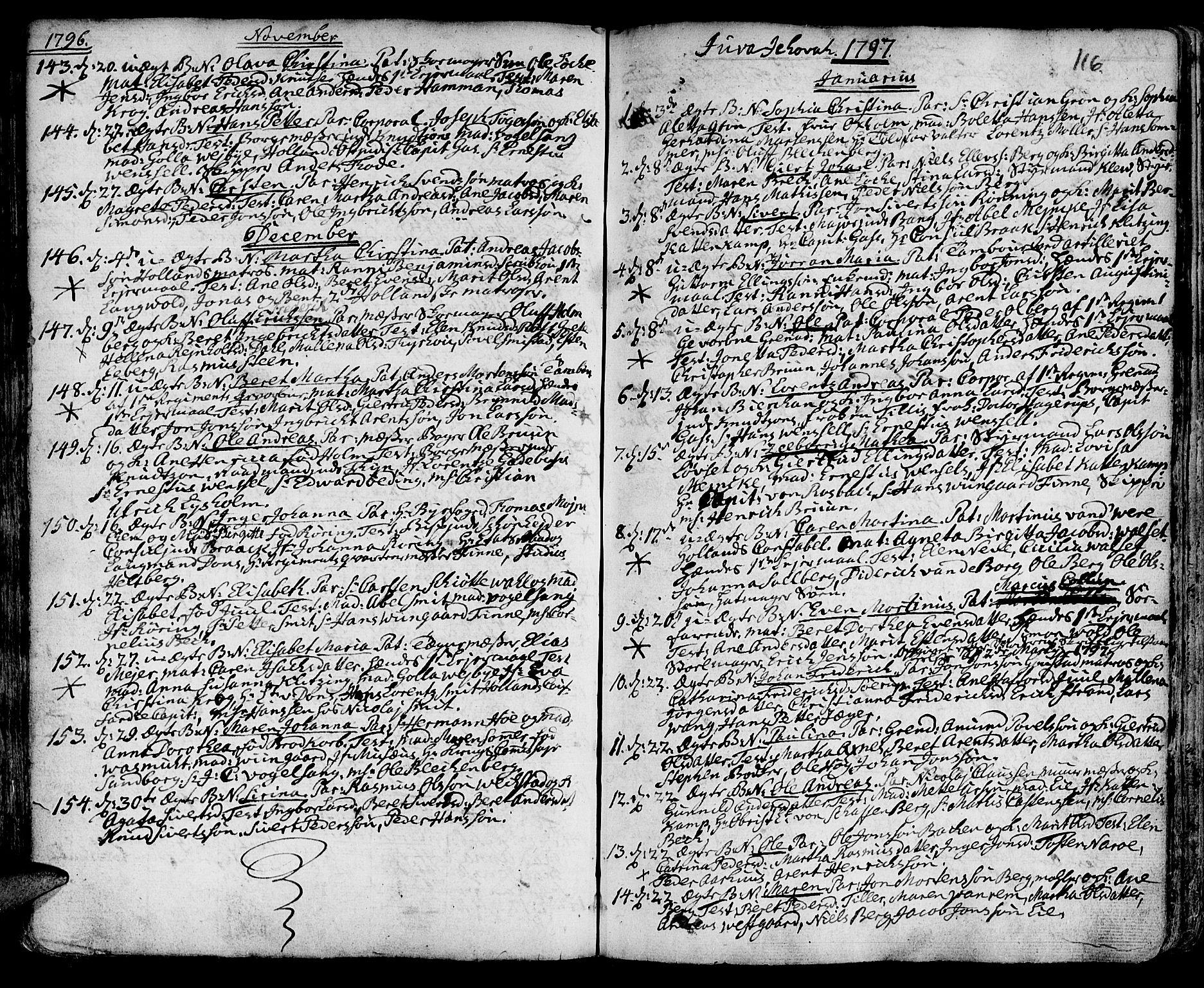 SAT, Ministerialprotokoller, klokkerbøker og fødselsregistre - Sør-Trøndelag, 601/L0039: Ministerialbok nr. 601A07, 1770-1819, s. 116