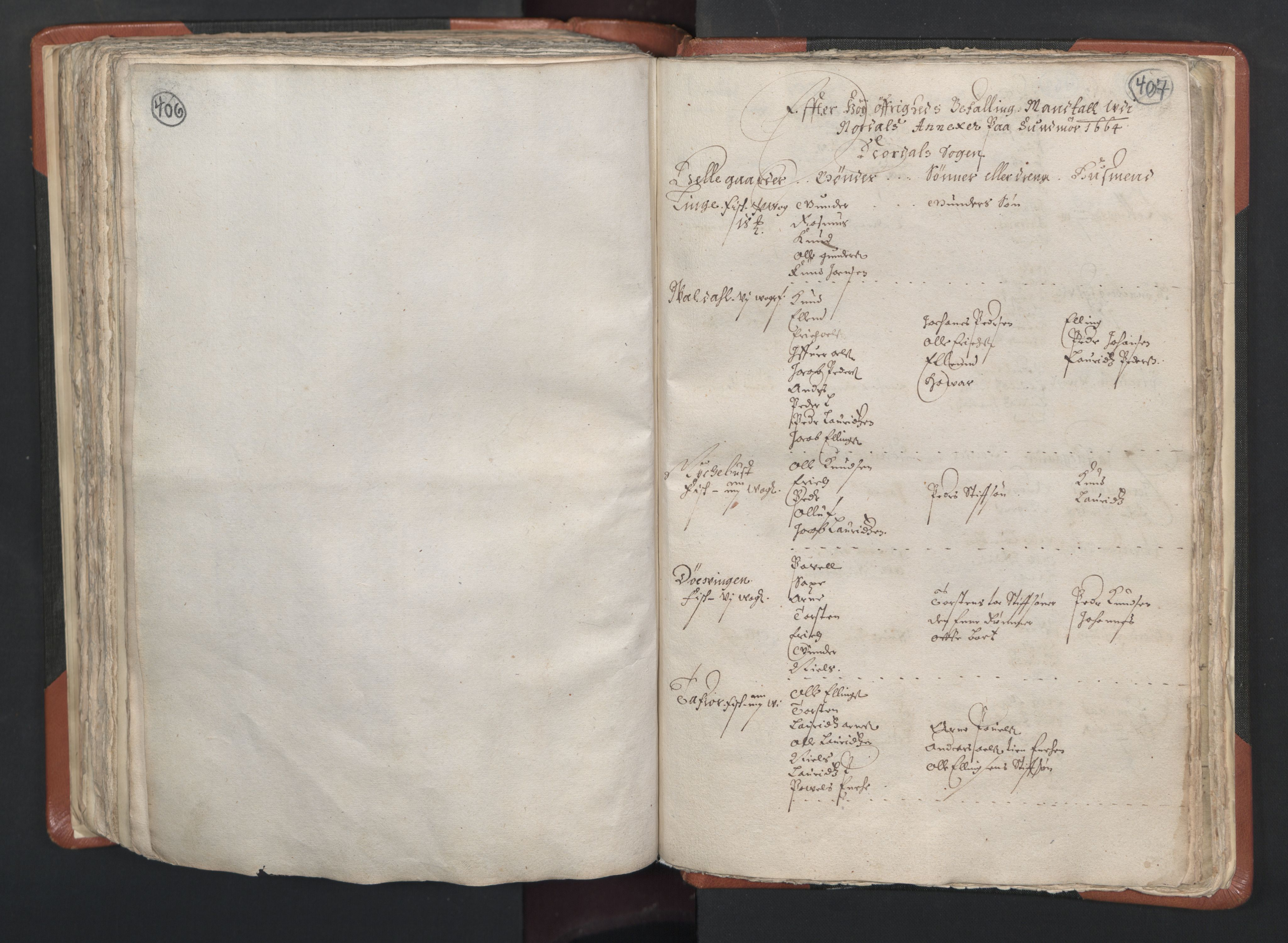 RA, Sogneprestenes manntall 1664-1666, nr. 26: Sunnmøre prosti, 1664-1666, s. 406-407