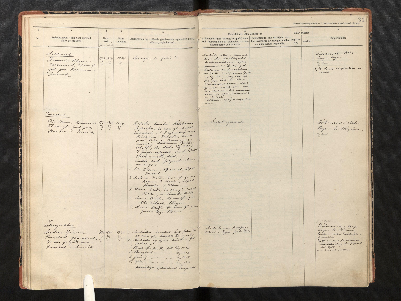 SAB, Lensmannen i Innvik, 0006/L0005: Dødsfallprotokoll, 1921-1932, s. 30b-31a