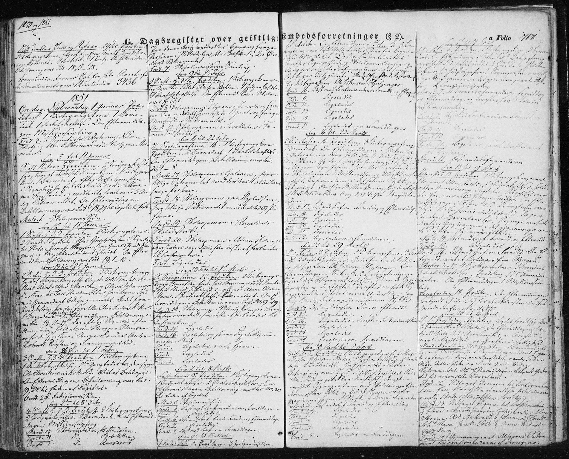 SAT, Ministerialprotokoller, klokkerbøker og fødselsregistre - Sør-Trøndelag, 681/L0931: Ministerialbok nr. 681A09, 1845-1859, s. 717