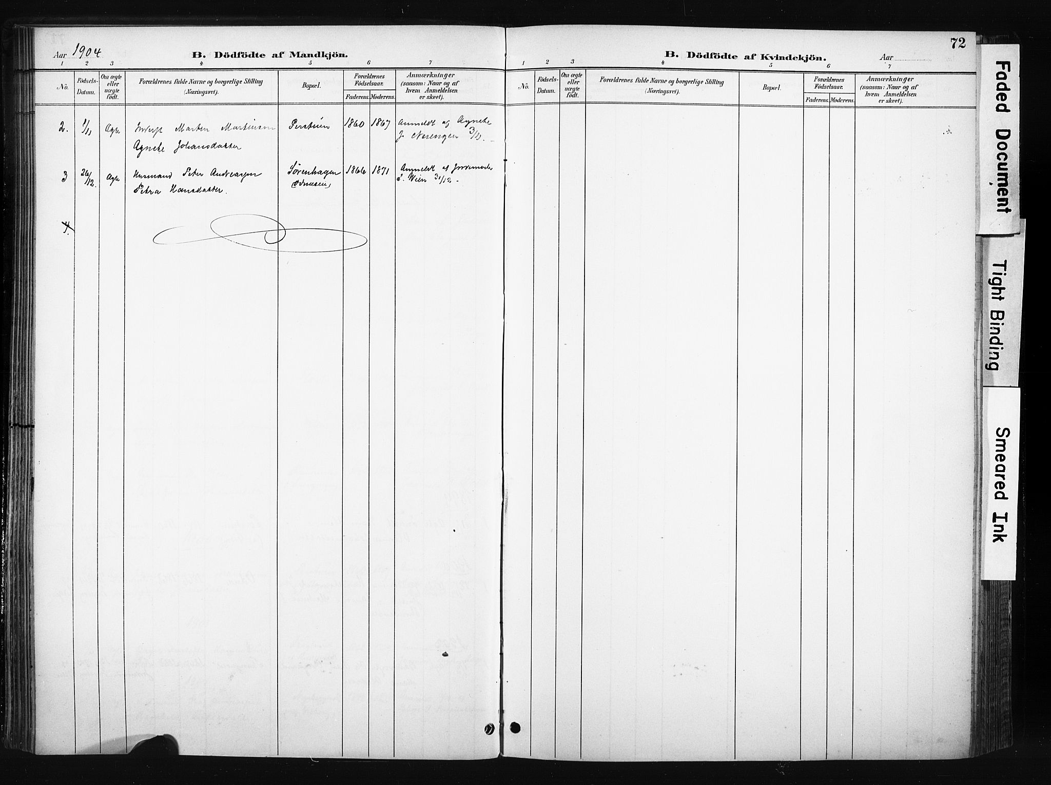 SAH, Søndre Land prestekontor, K/L0004: Ministerialbok nr. 4, 1895-1904, s. 72