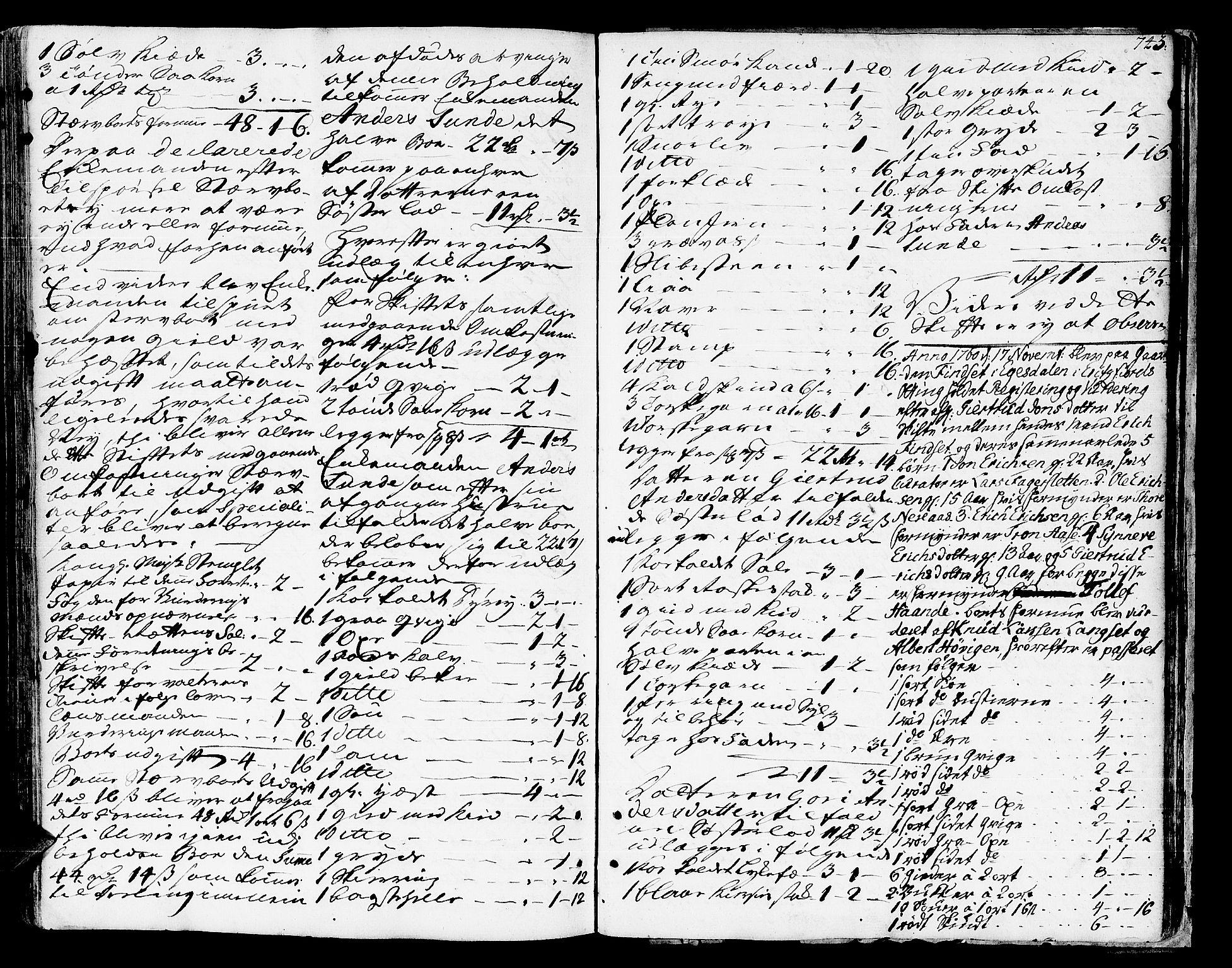 SAT, Romsdal sorenskriveri, 3/3A/L0008: Skifteprotokoll, 1752-1761, s. 742b-743a