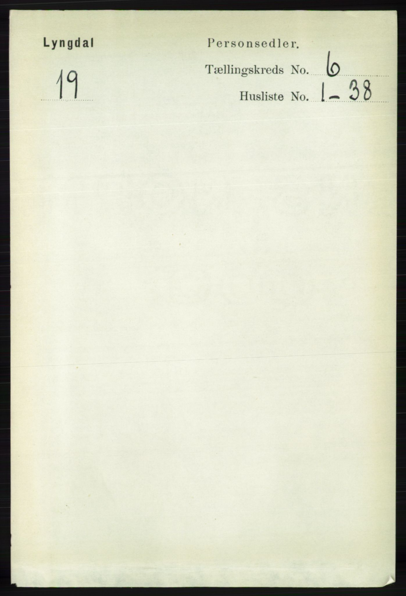 RA, Folketelling 1891 for 1032 Lyngdal herred, 1891, s. 2461