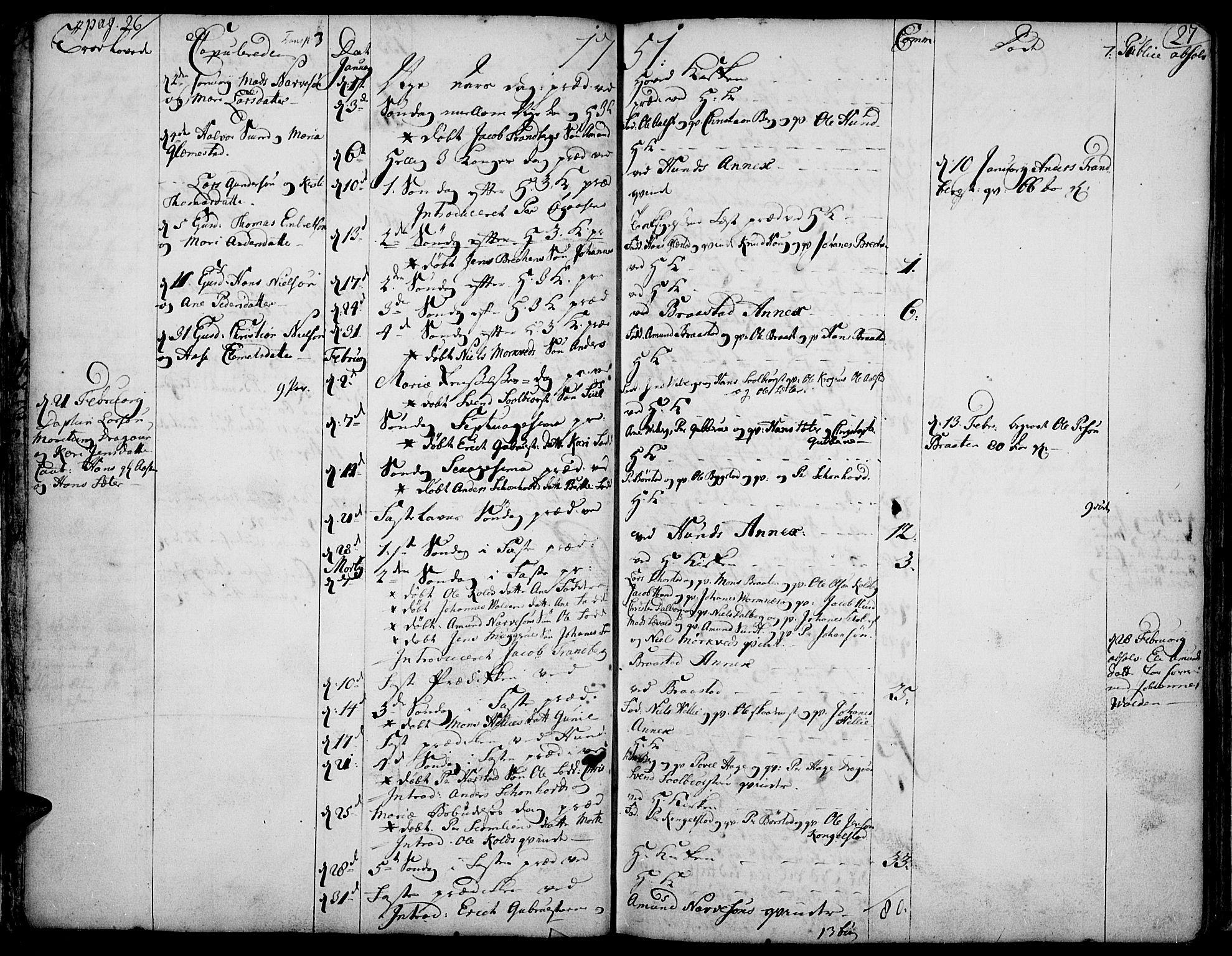 SAH, Vardal prestekontor, H/Ha/Haa/L0002: Ministerialbok nr. 2, 1748-1776, s. 26-27
