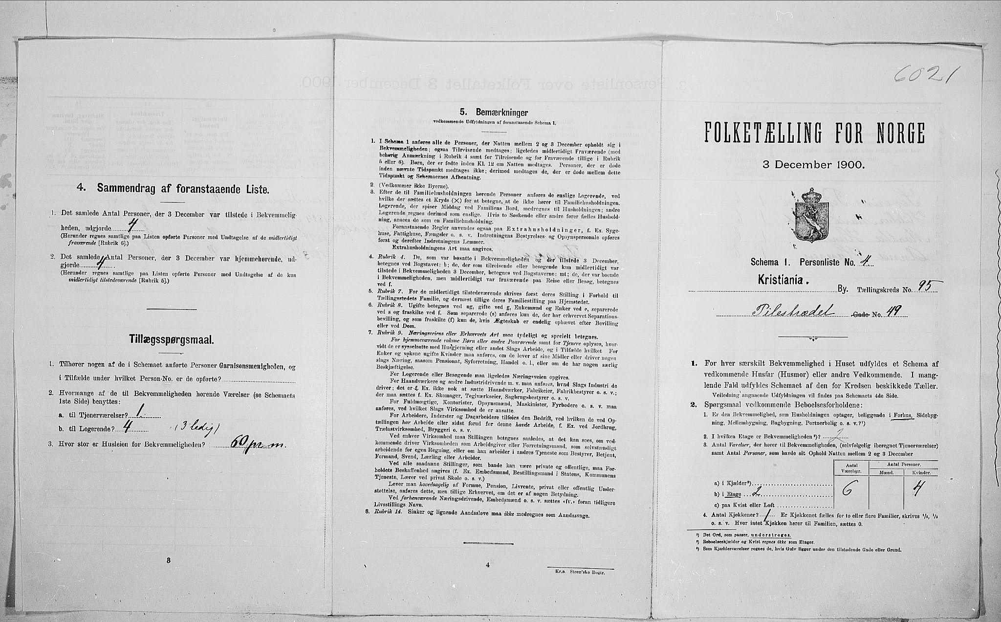 SAO, Folketelling 1900 for 0301 Kristiania kjøpstad, 1900, s. 71708