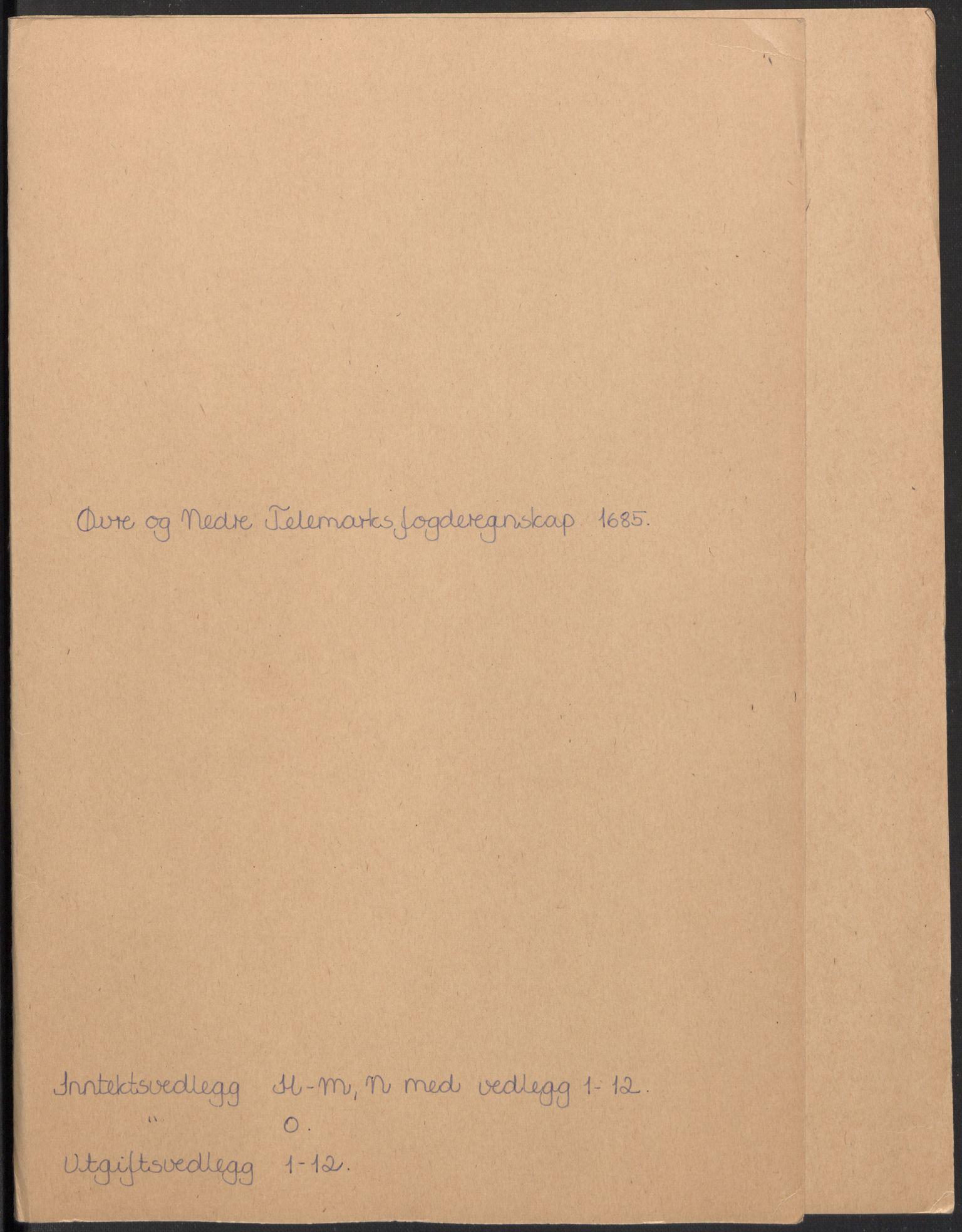 RA, Rentekammeret inntil 1814, Reviderte regnskaper, Fogderegnskap, R35/L2082: Fogderegnskap Øvre og Nedre Telemark, 1685, s. 231