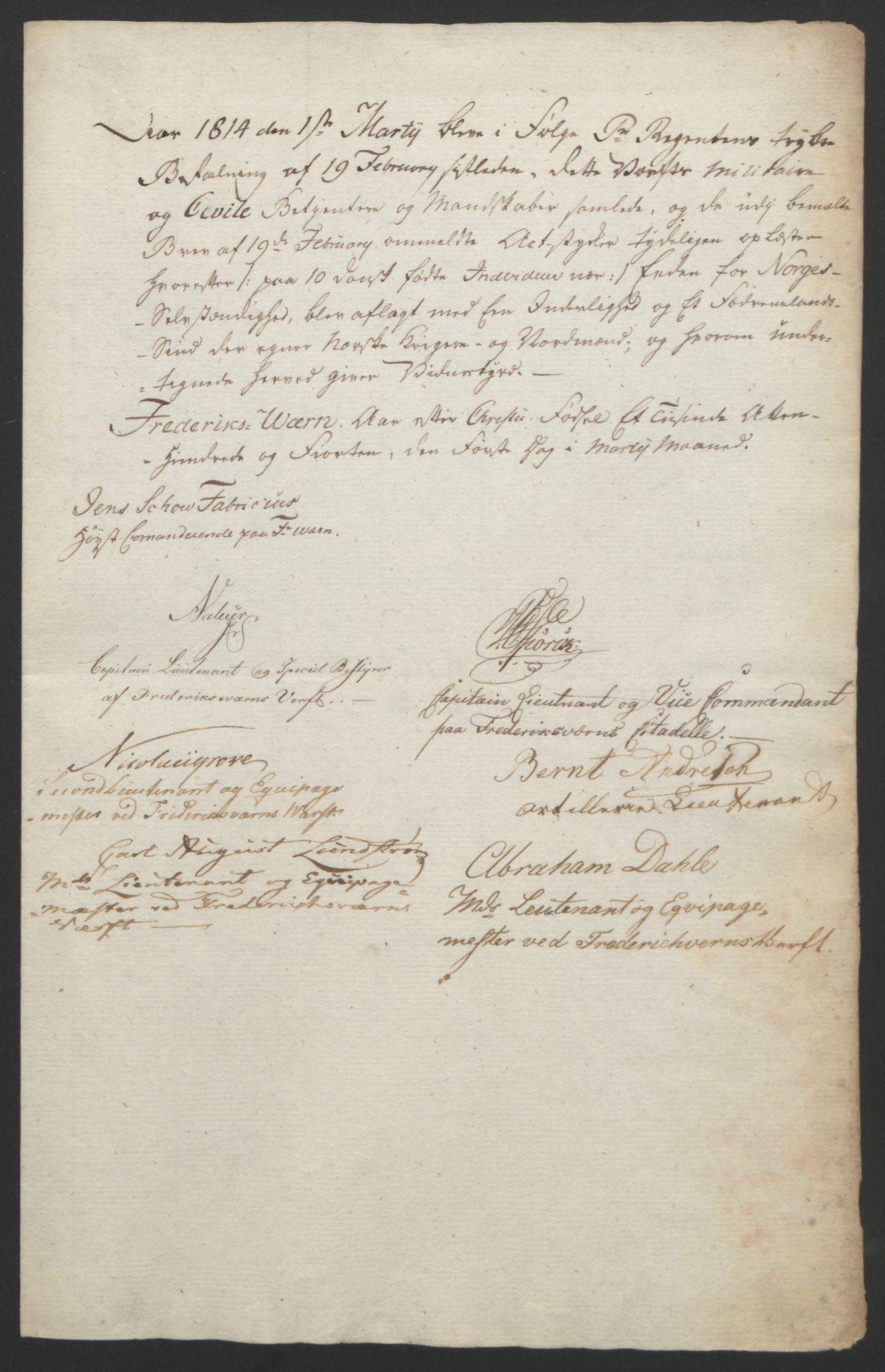 RA, Statsrådssekretariatet, D/Db/L0007: Fullmakter for Eidsvollsrepresentantene i 1814. , 1814, s. 130