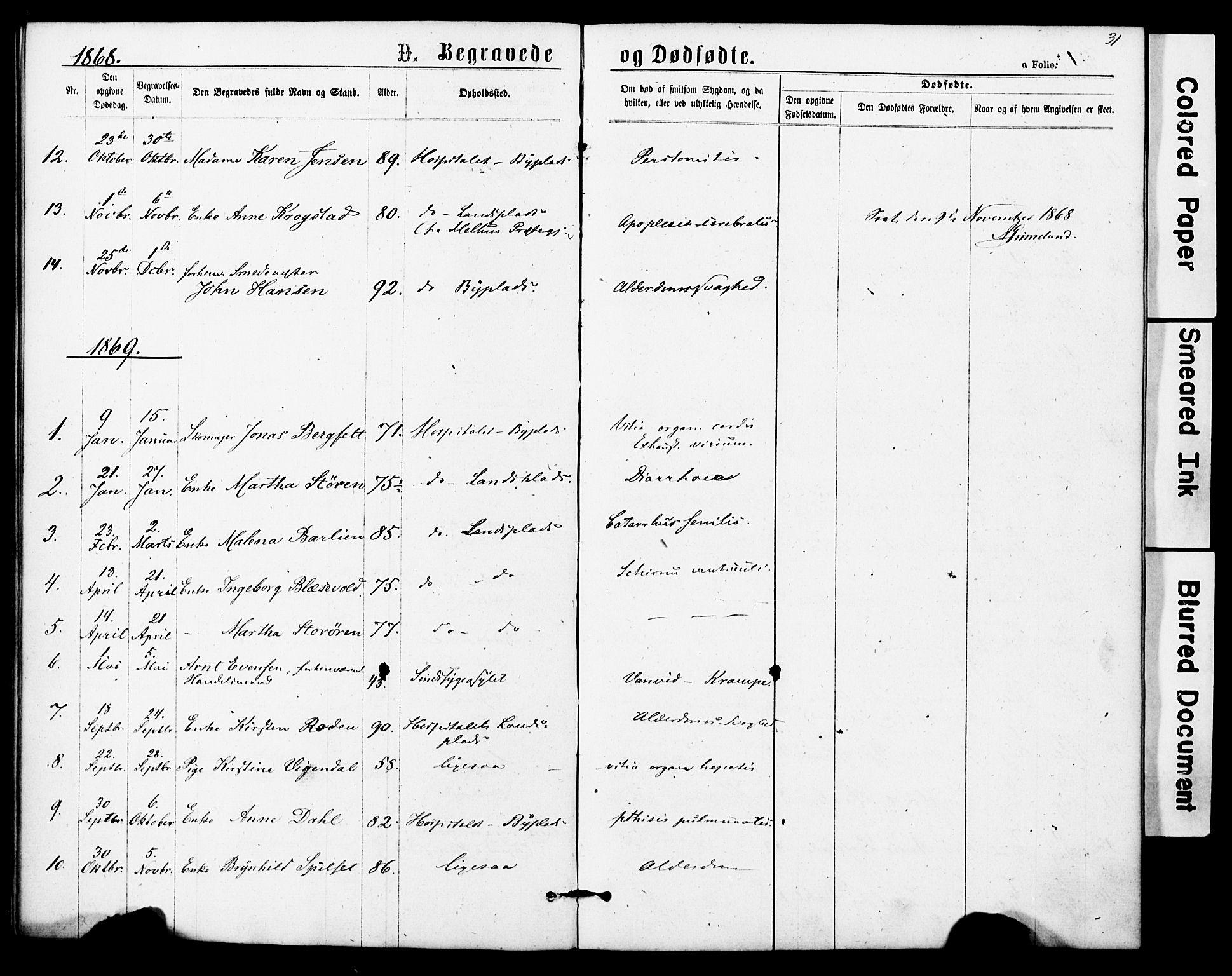 SAT, Ministerialprotokoller, klokkerbøker og fødselsregistre - Sør-Trøndelag, 623/L0469: Ministerialbok nr. 623A03, 1868-1883, s. 31