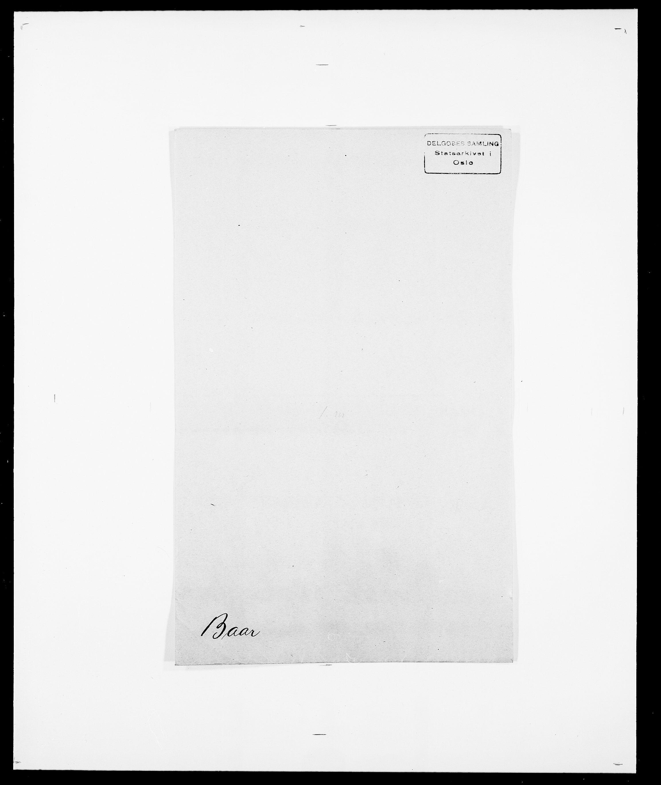 SAO, Delgobe, Charles Antoine - samling, D/Da/L0003: Barca - Bergen, s. 1