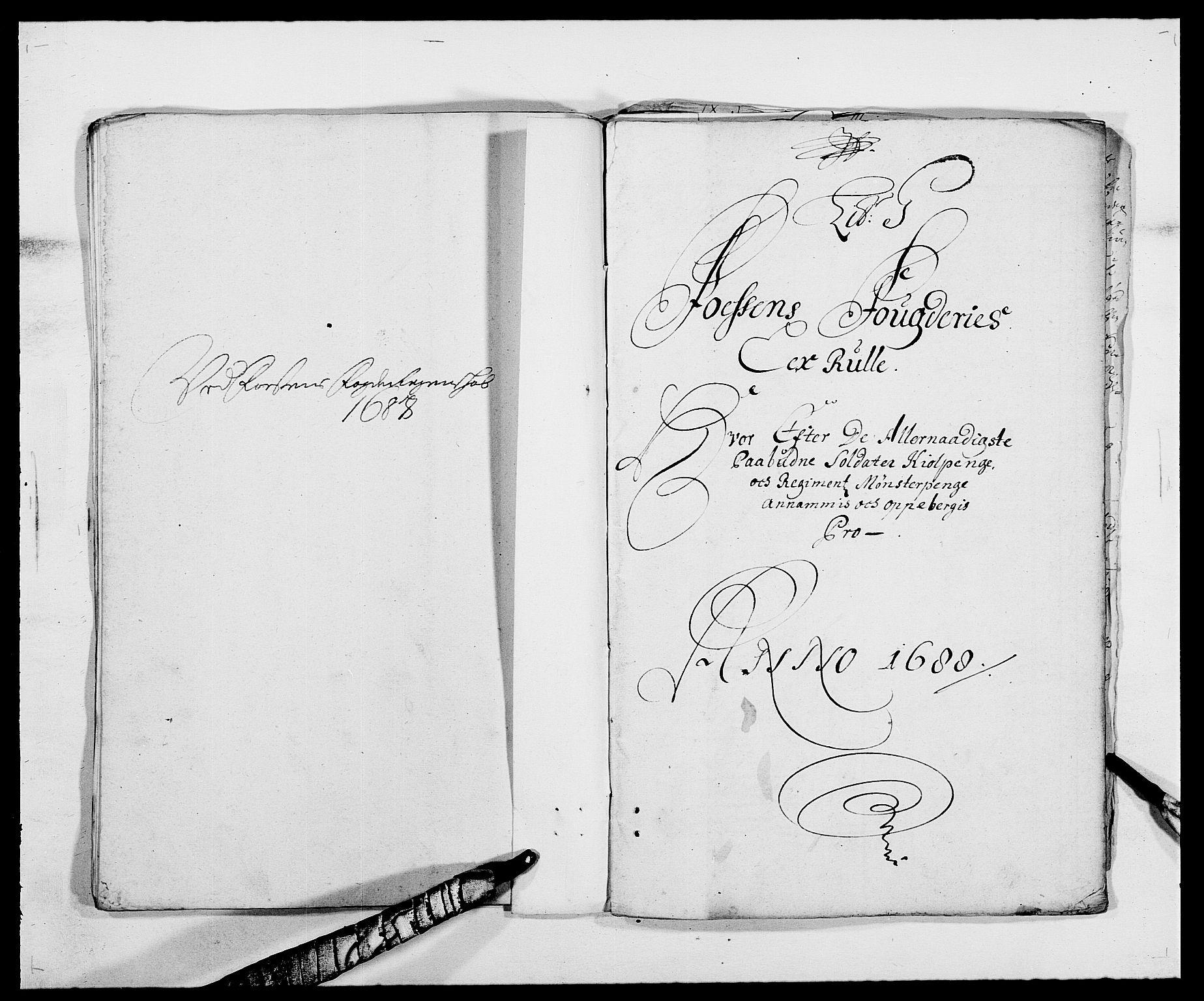 RA, Rentekammeret inntil 1814, Reviderte regnskaper, Fogderegnskap, R57/L3846: Fogderegnskap Fosen, 1688, s. 101