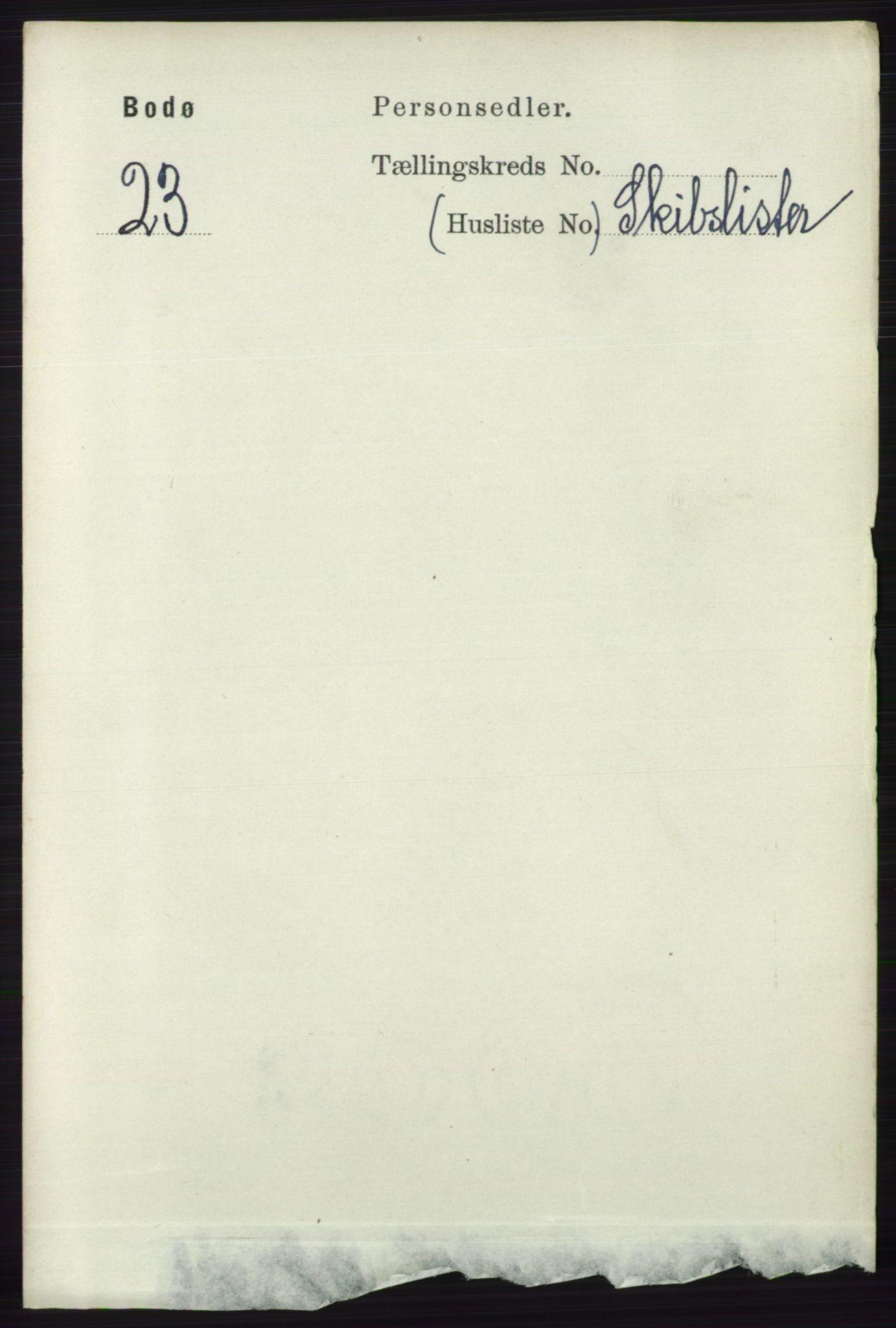 RA, Folketelling 1891 for 1804 Bodø kjøpstad, 1891, s. 4527