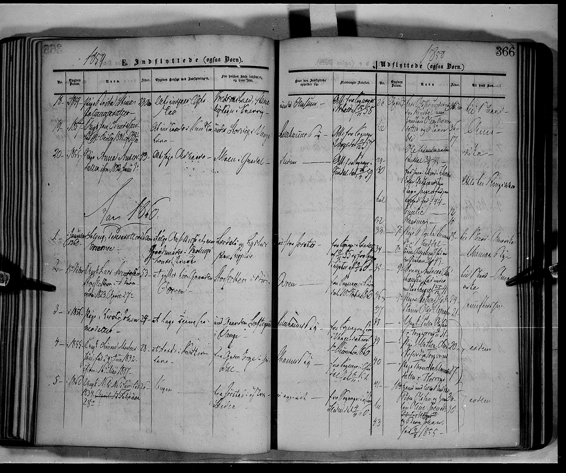 SAH, Fåberg prestekontor, Ministerialbok nr. 6B, 1855-1867, s. 366