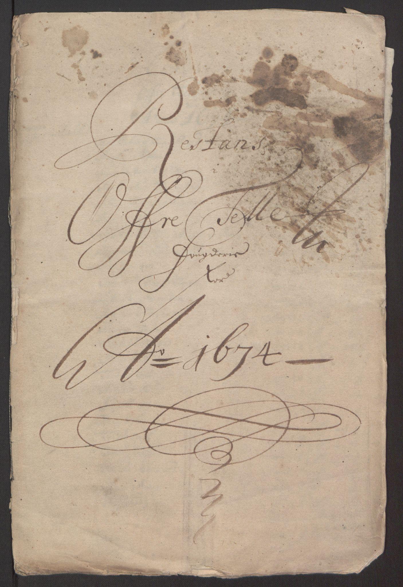 RA, Rentekammeret inntil 1814, Reviderte regnskaper, Fogderegnskap, R35/L2061: Fogderegnskap Øvre og Nedre Telemark, 1673-1674, s. 203