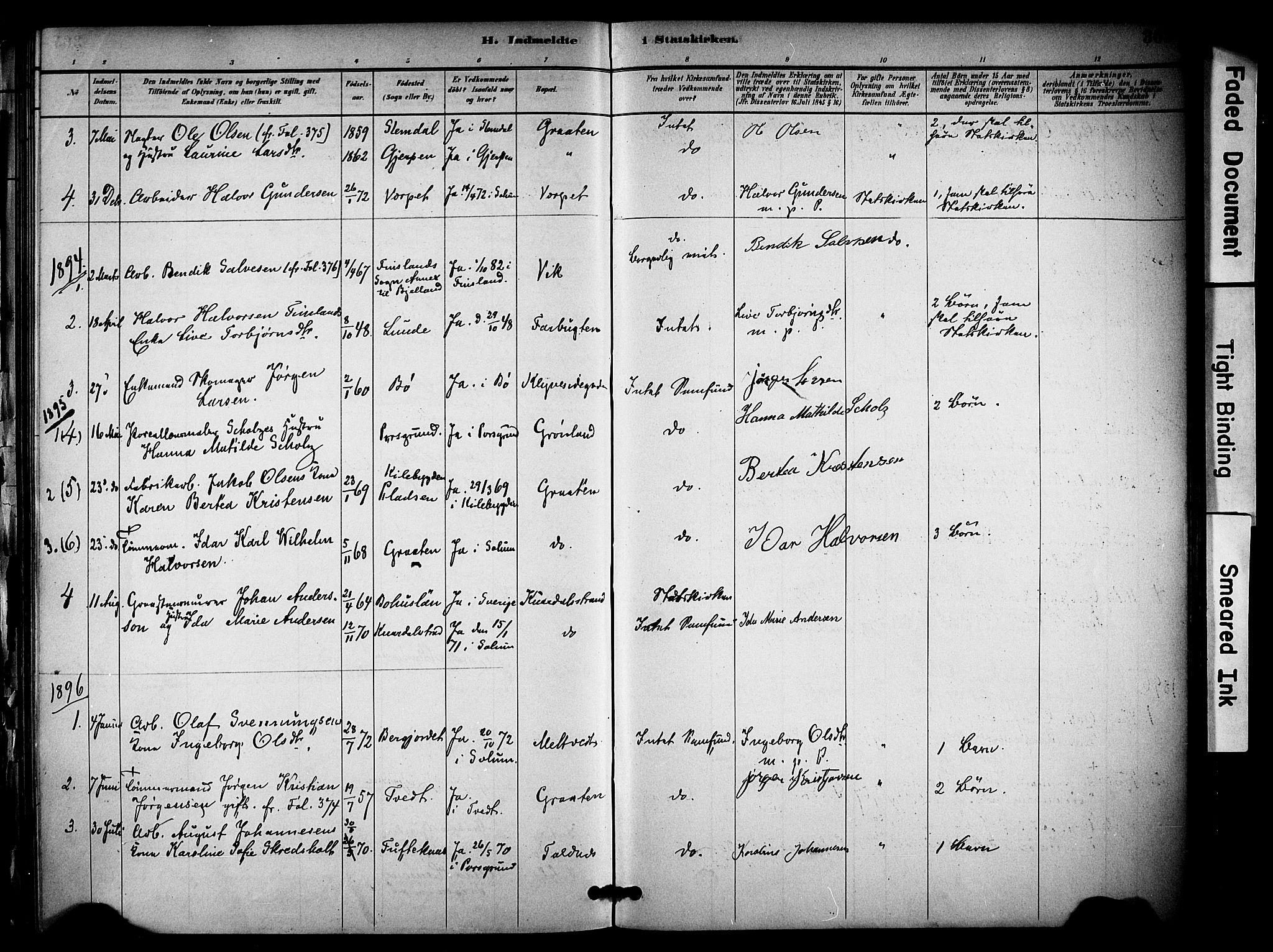 SAKO, Solum kirkebøker, F/Fa/L0010: Ministerialbok nr. I 10, 1888-1898, s. 365