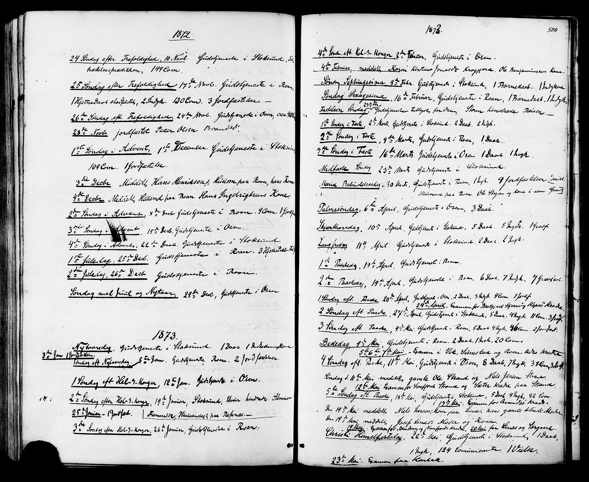 SAT, Ministerialprotokoller, klokkerbøker og fødselsregistre - Sør-Trøndelag, 657/L0706: Ministerialbok nr. 657A07, 1867-1878, s. 504