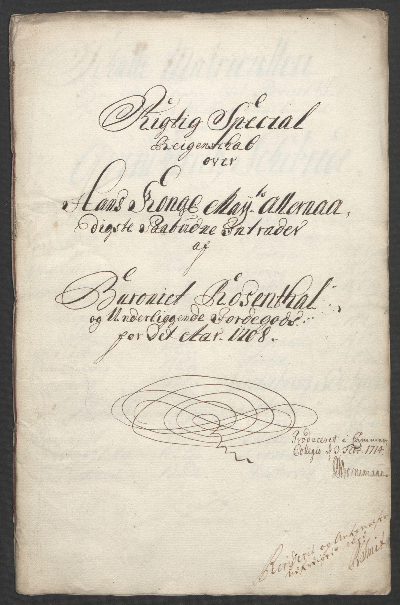 RA, Rentekammeret inntil 1814, Reviderte regnskaper, Fogderegnskap, R49/L3138: Fogderegnskap Rosendal Baroni, 1691-1714, s. 205