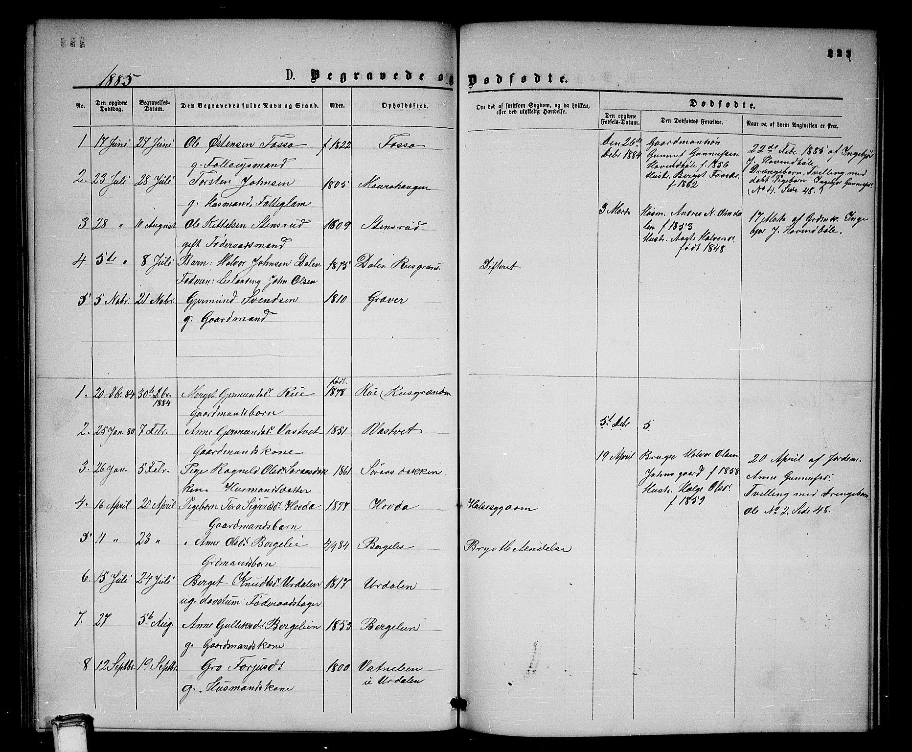 SAKO, Gransherad kirkebøker, G/Gb/L0002: Klokkerbok nr. II 2, 1860-1886, s. 223