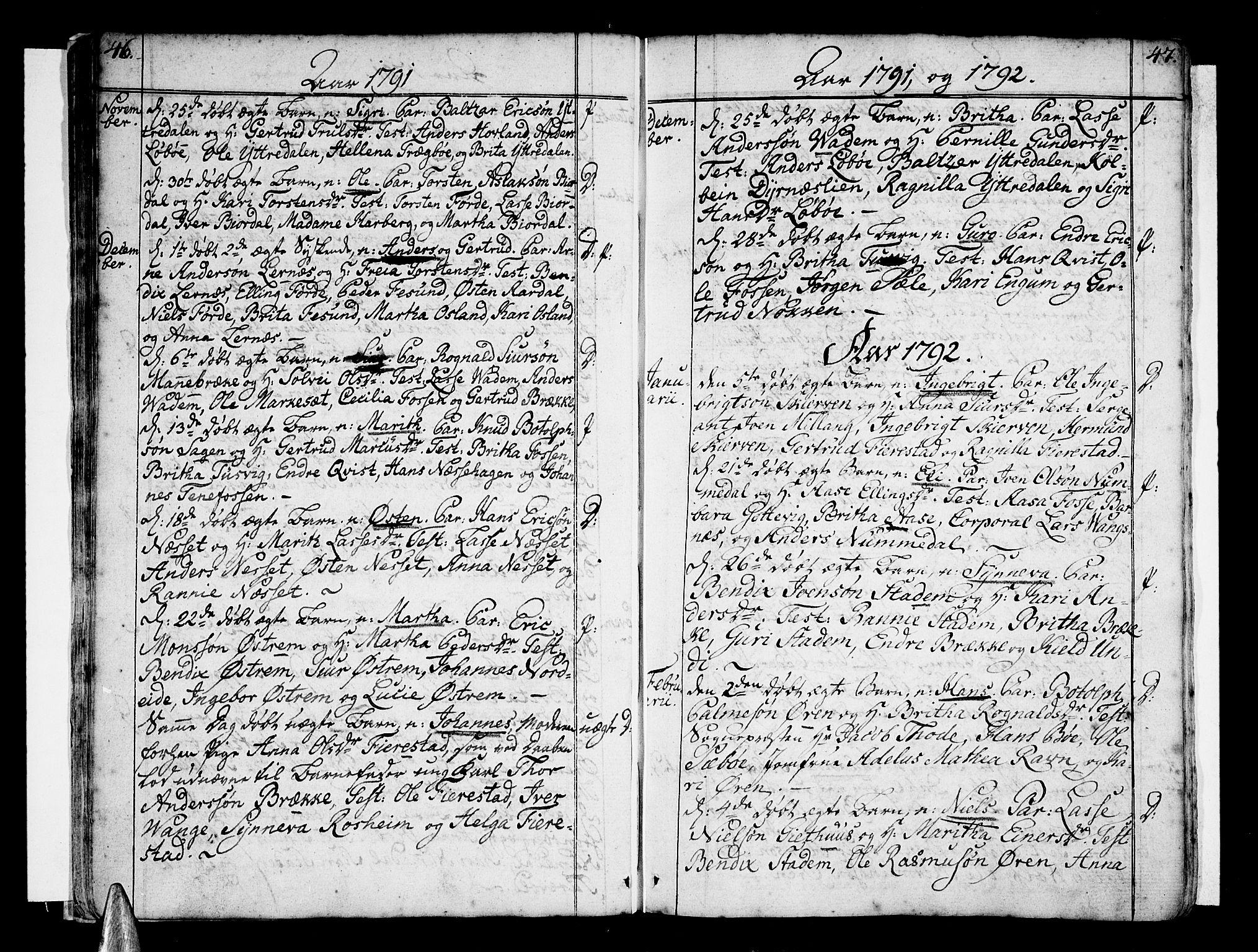 SAB, Vik Sokneprestembete, Ministerialbok nr. A 5, 1787-1820, s. 46-47