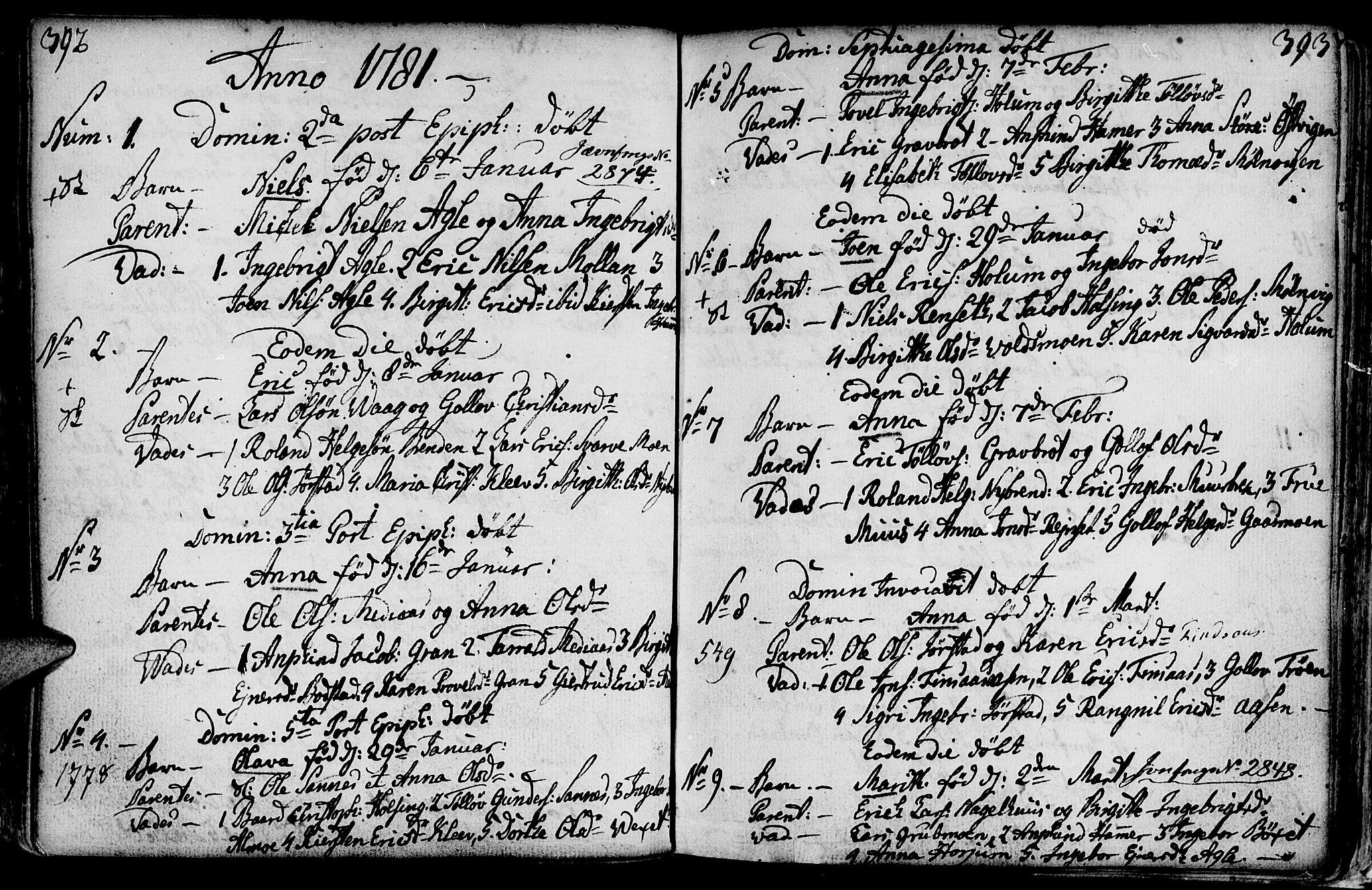 SAT, Ministerialprotokoller, klokkerbøker og fødselsregistre - Nord-Trøndelag, 749/L0467: Ministerialbok nr. 749A01, 1733-1787, s. 392-393