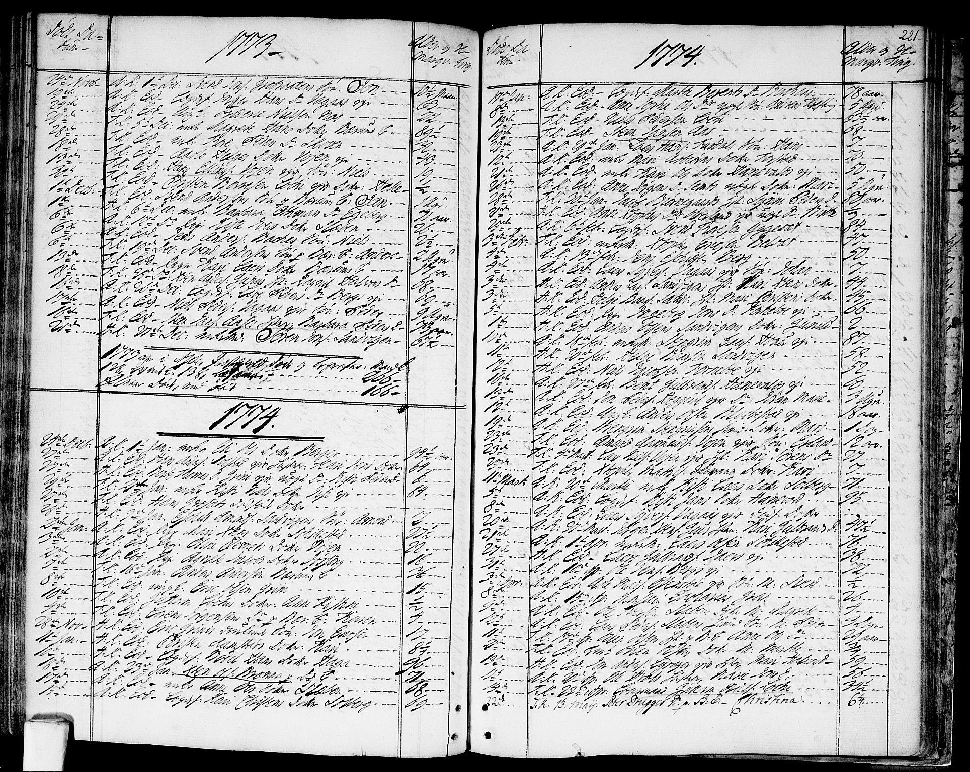 SAO, Asker prestekontor Kirkebøker, F/Fa/L0003: Ministerialbok nr. I 3, 1767-1807, s. 221