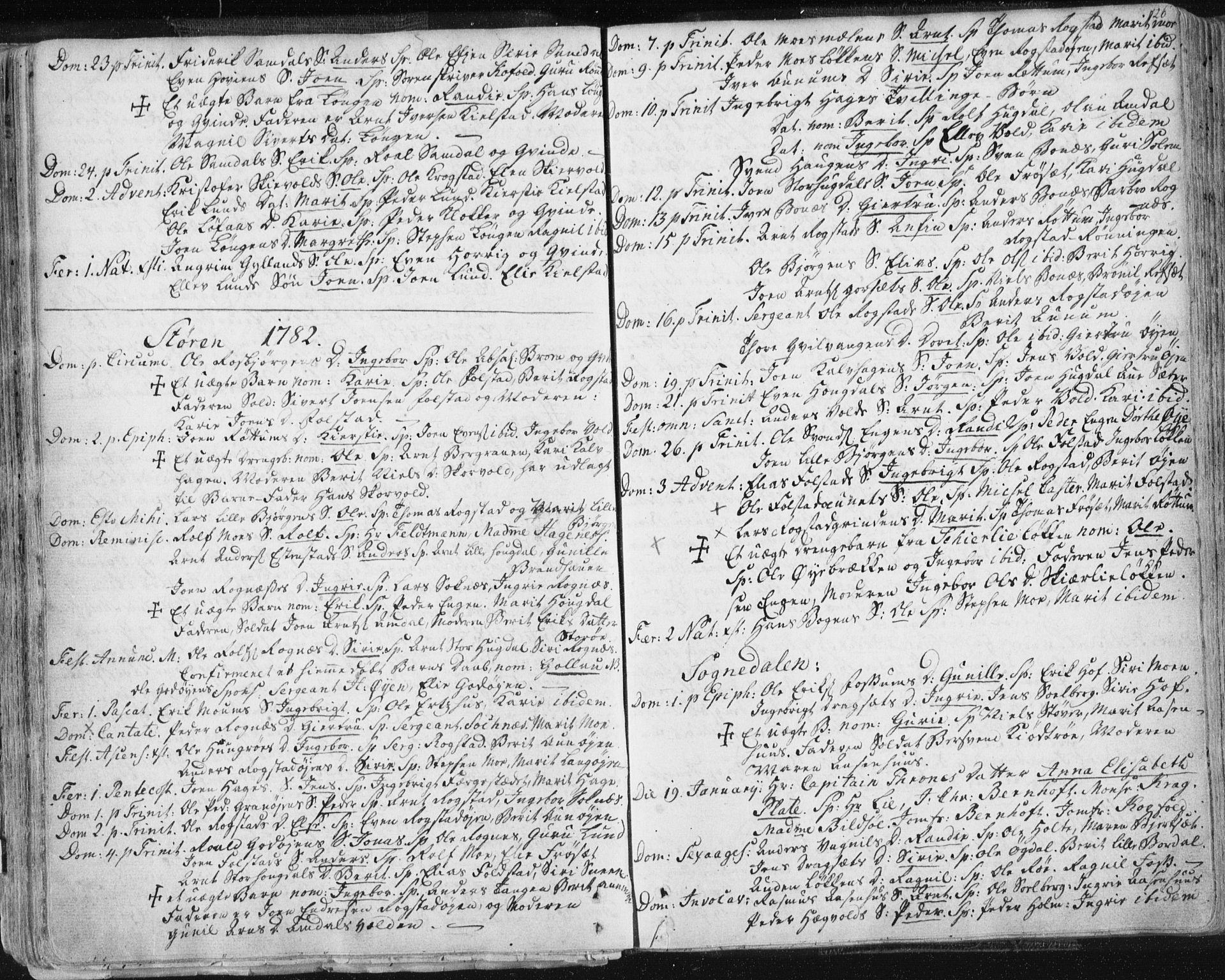 SAT, Ministerialprotokoller, klokkerbøker og fødselsregistre - Sør-Trøndelag, 687/L0991: Ministerialbok nr. 687A02, 1747-1790, s. 126