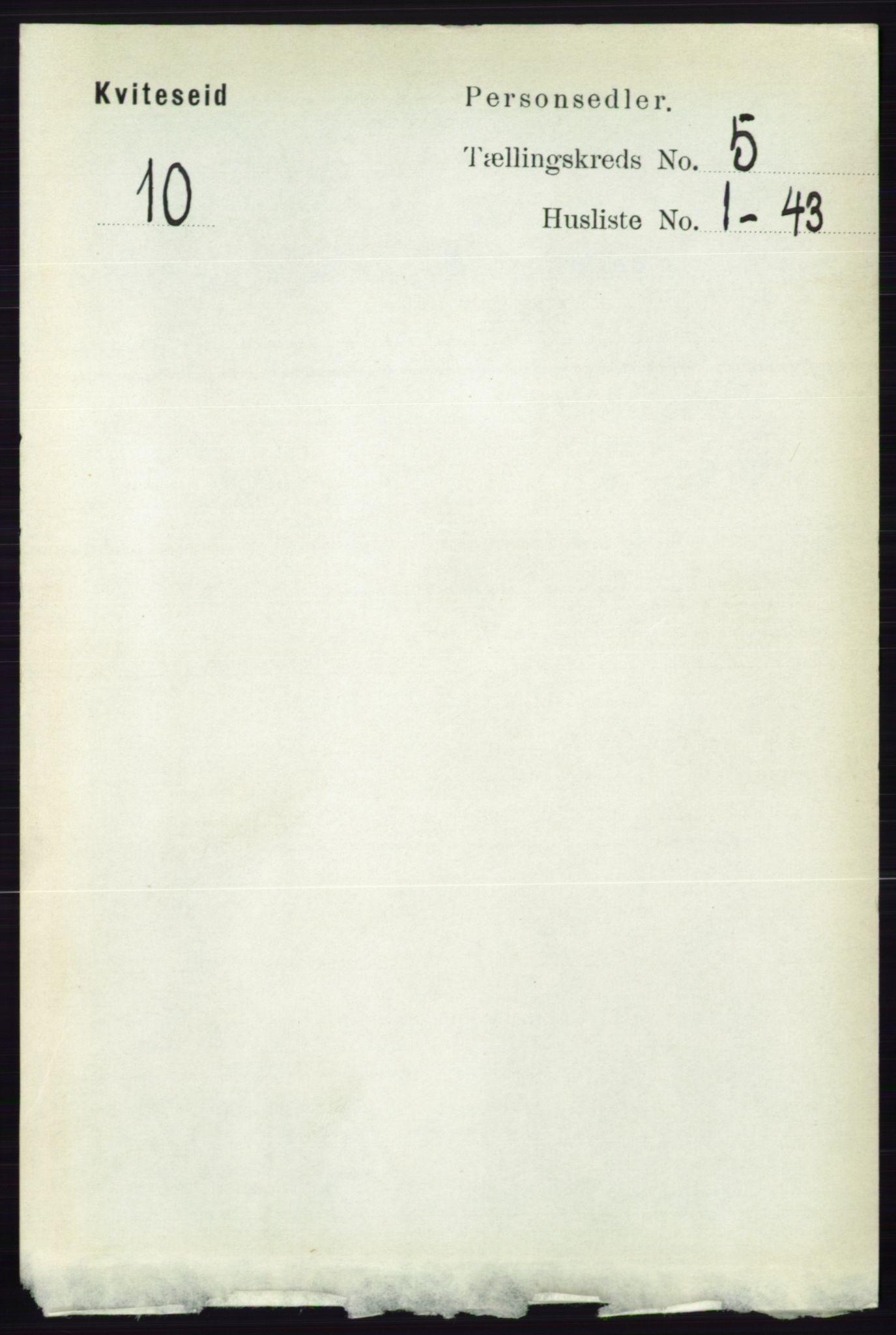 RA, Folketelling 1891 for 0829 Kviteseid herred, 1891, s. 906