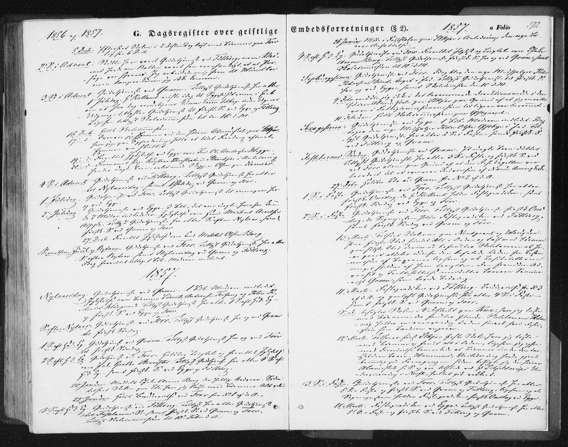 SAT, Ministerialprotokoller, klokkerbøker og fødselsregistre - Nord-Trøndelag, 746/L0446: Ministerialbok nr. 746A05, 1846-1859, s. 372