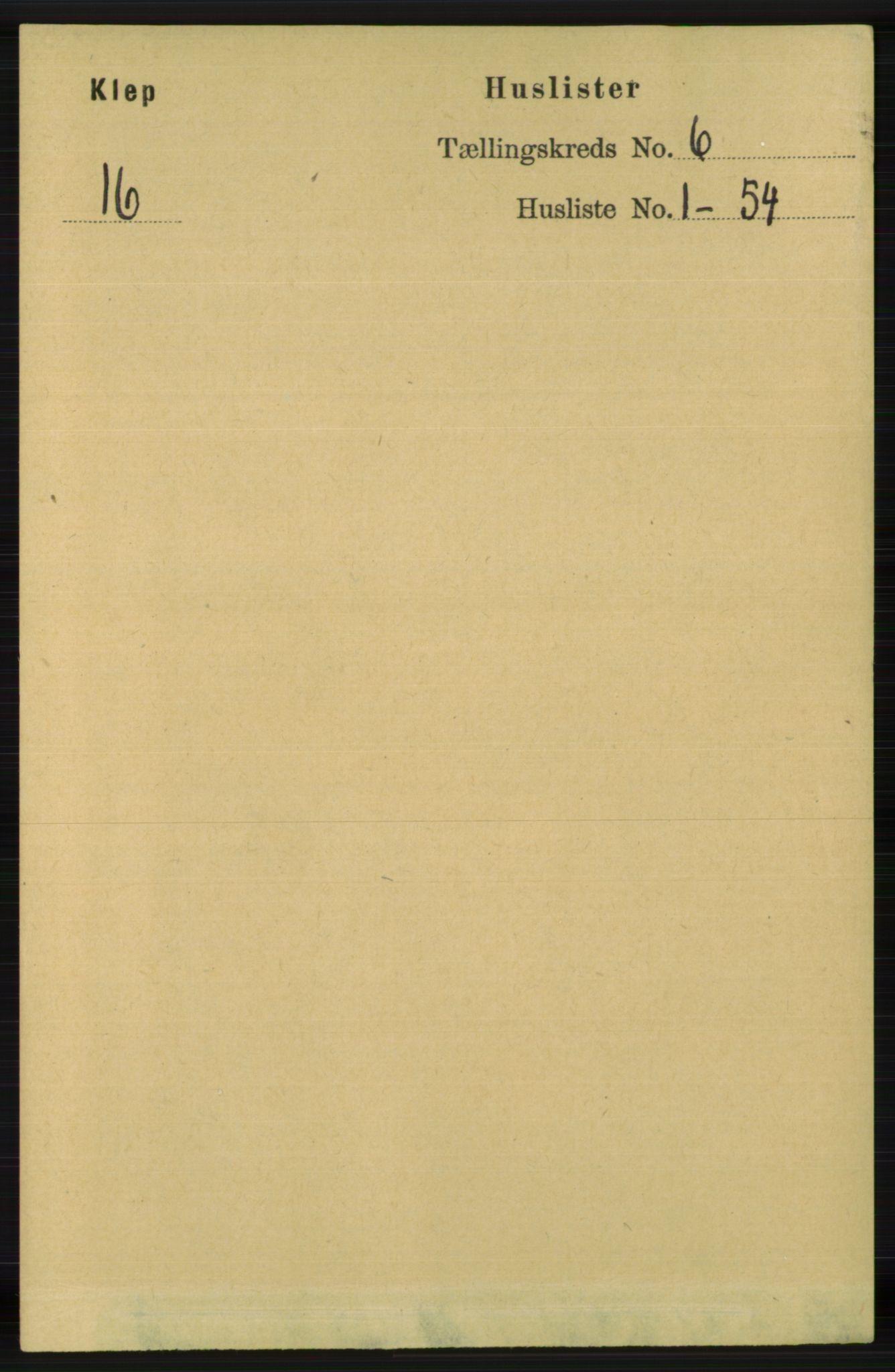 RA, Folketelling 1891 for 1120 Klepp herred, 1891, s. 1659