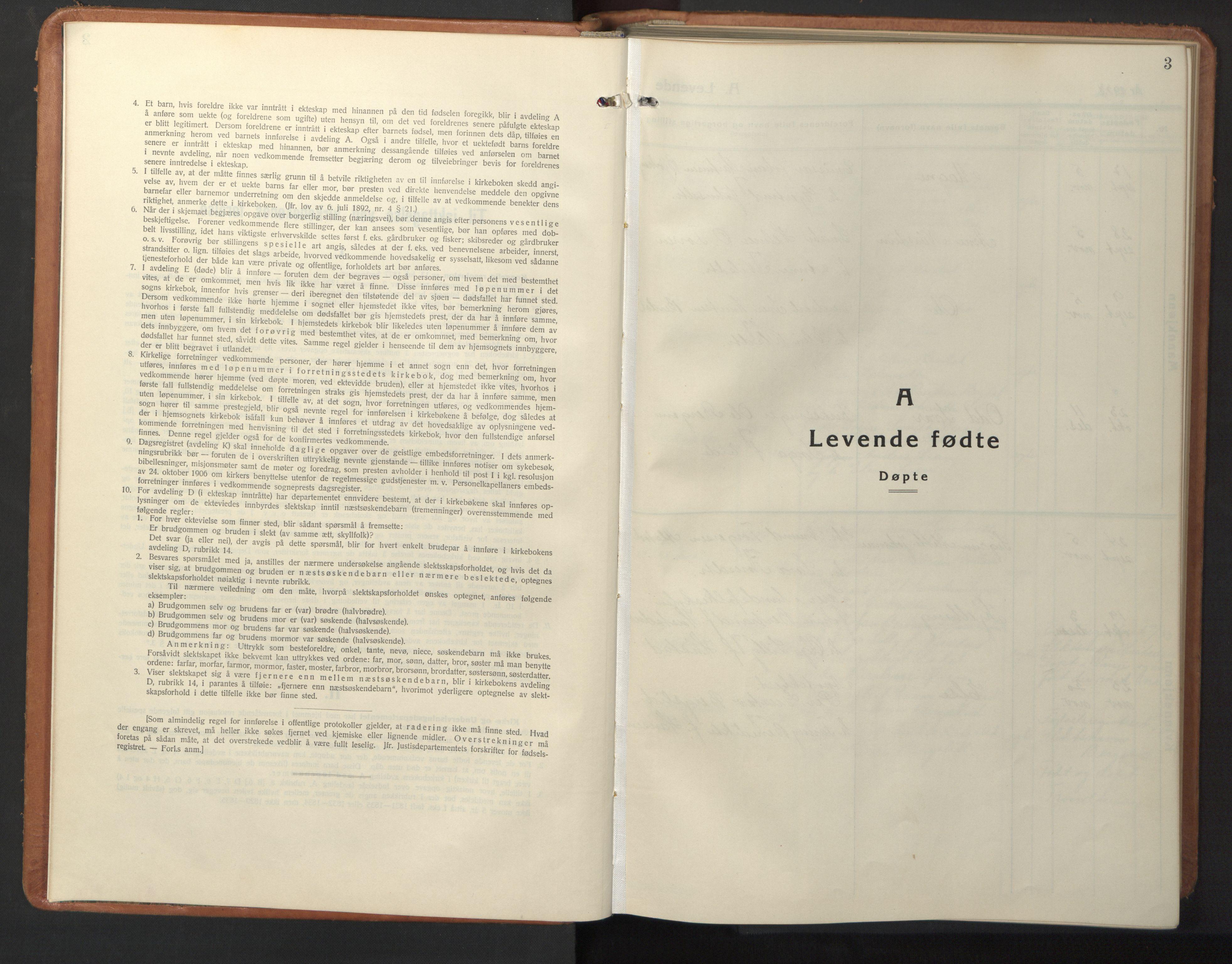 SAT, Ministerialprotokoller, klokkerbøker og fødselsregistre - Sør-Trøndelag, 630/L0508: Klokkerbok nr. 630C06, 1933-1950, s. 3