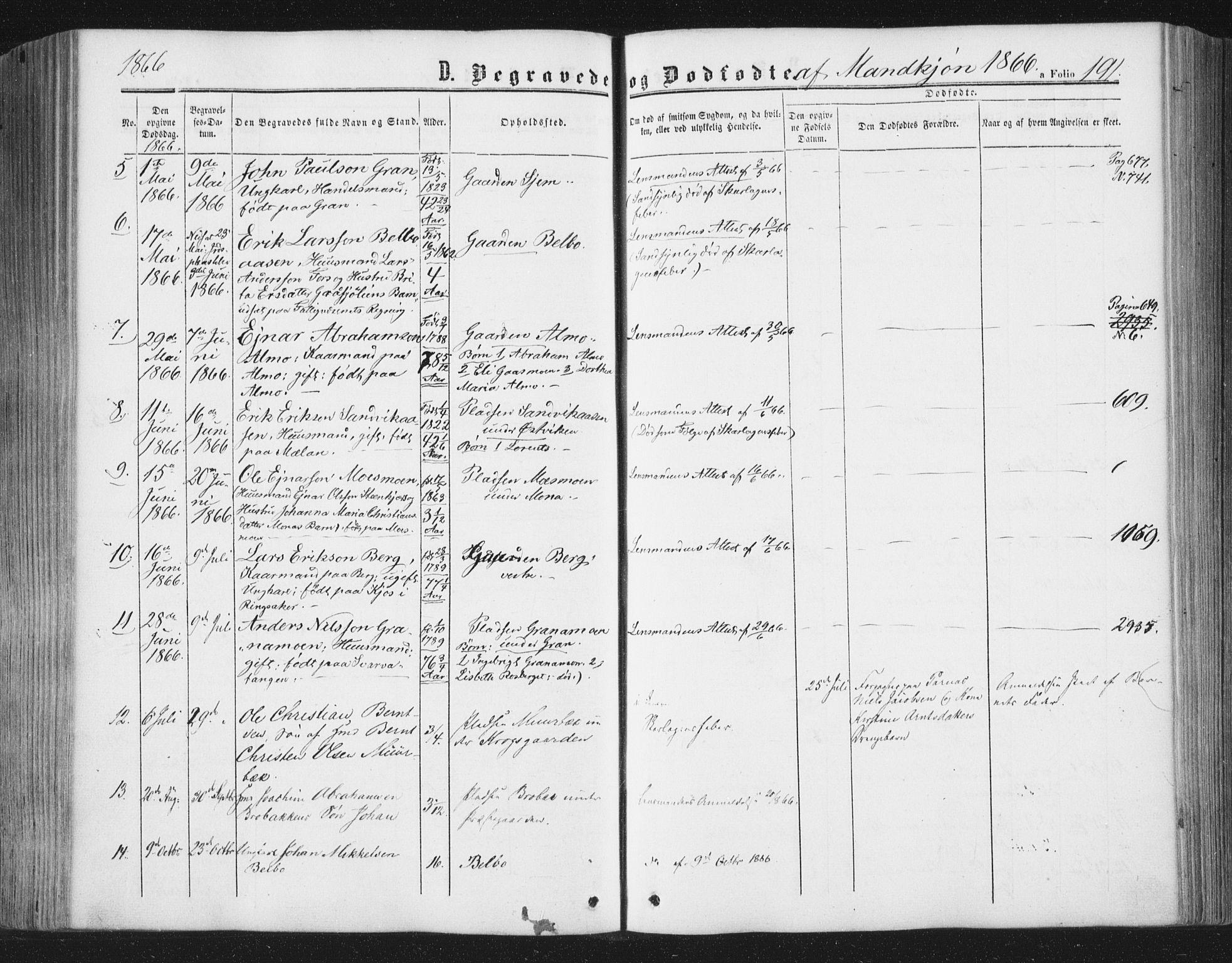 SAT, Ministerialprotokoller, klokkerbøker og fødselsregistre - Nord-Trøndelag, 749/L0472: Ministerialbok nr. 749A06, 1857-1873, s. 191