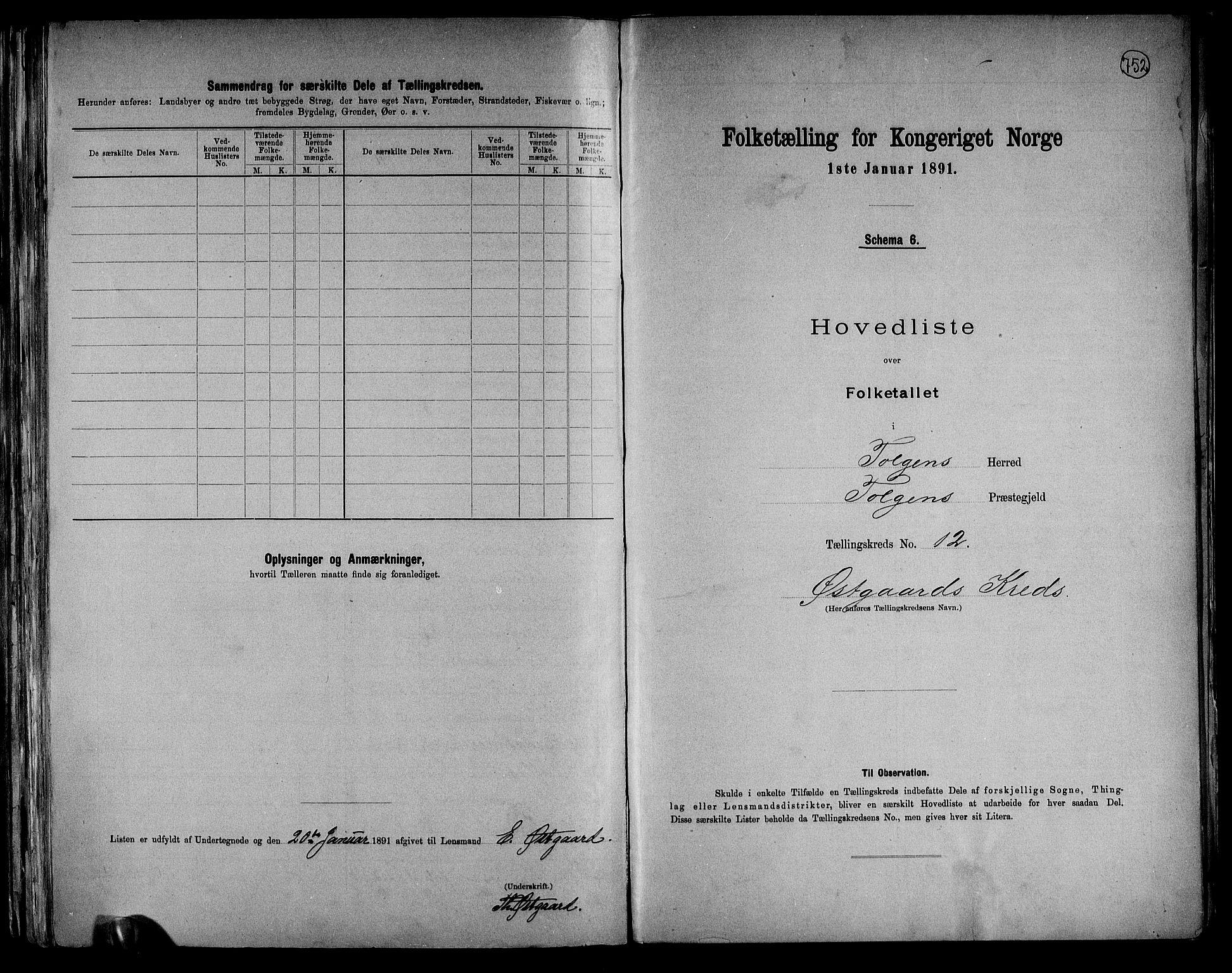 RA, Folketelling 1891 for 0436 Tolga herred, 1891, s. 38
