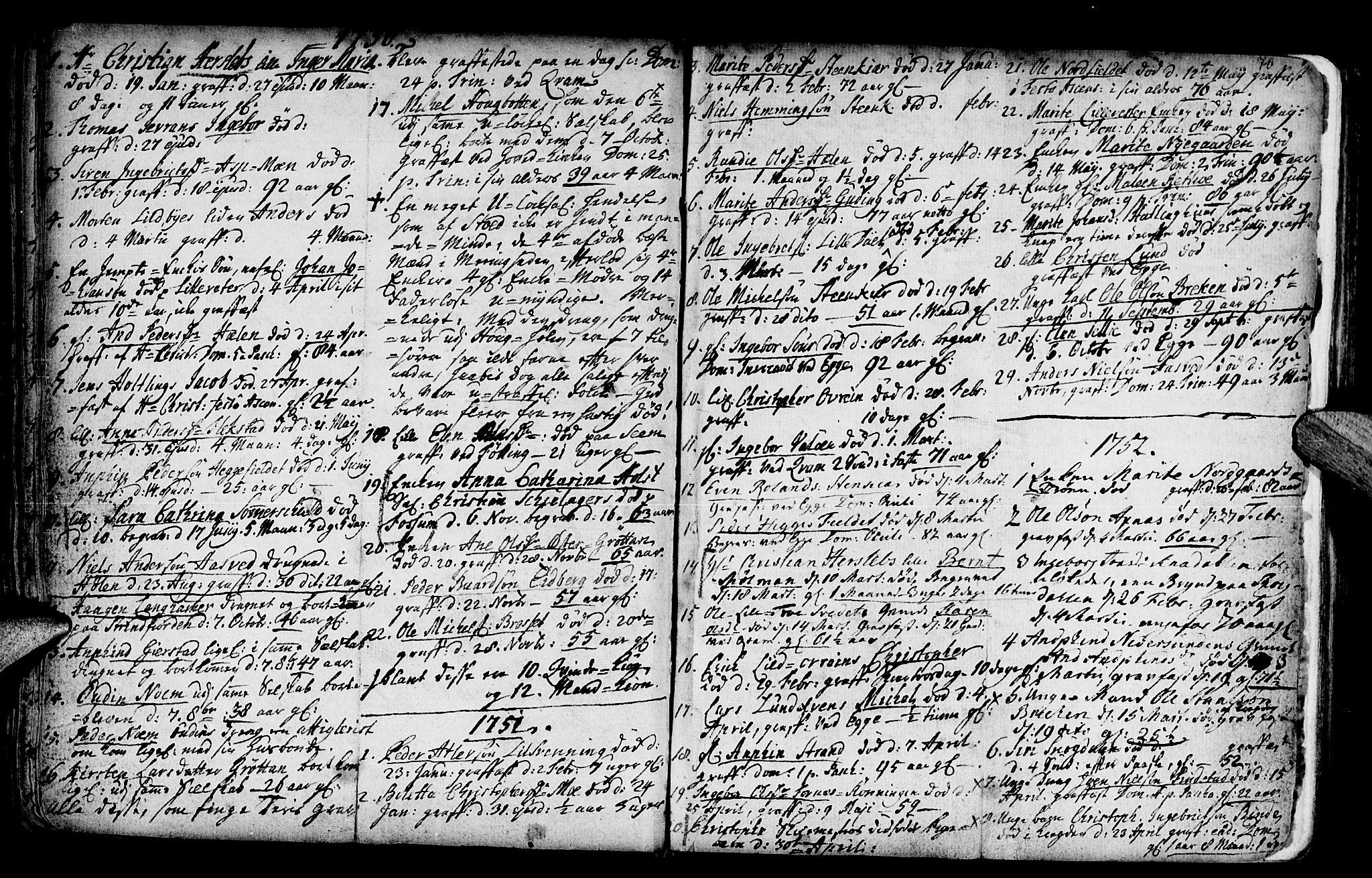 SAT, Ministerialprotokoller, klokkerbøker og fødselsregistre - Nord-Trøndelag, 746/L0439: Ministerialbok nr. 746A01, 1688-1759, s. 70