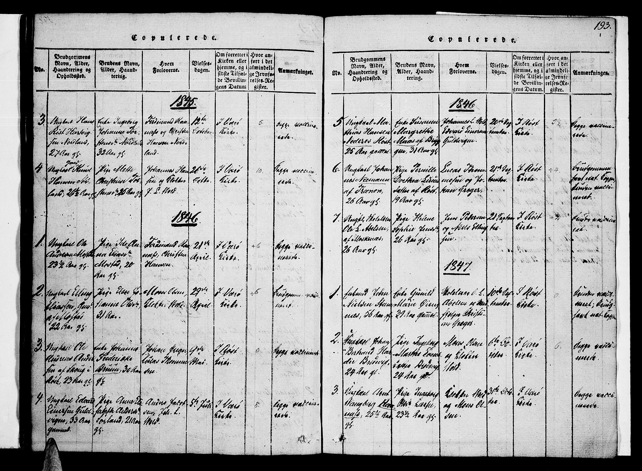 SAT, Ministerialprotokoller, klokkerbøker og fødselsregistre - Nordland, 807/L0120: Ministerialbok nr. 807A03, 1821-1848, s. 193