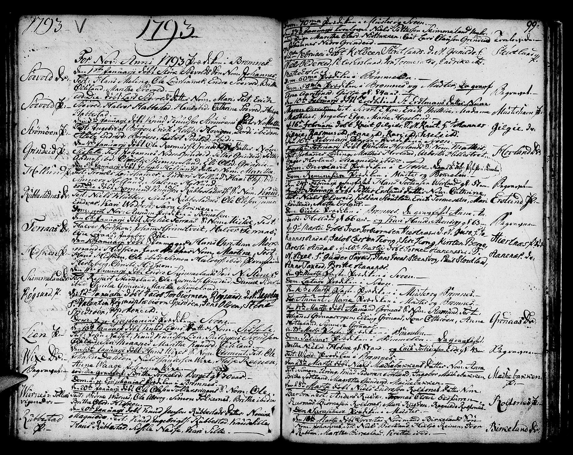 SAB, Finnås sokneprestembete, H/Ha/Haa/Haaa/L0003: Ministerialbok nr. A 3, 1765-1803, s. 99