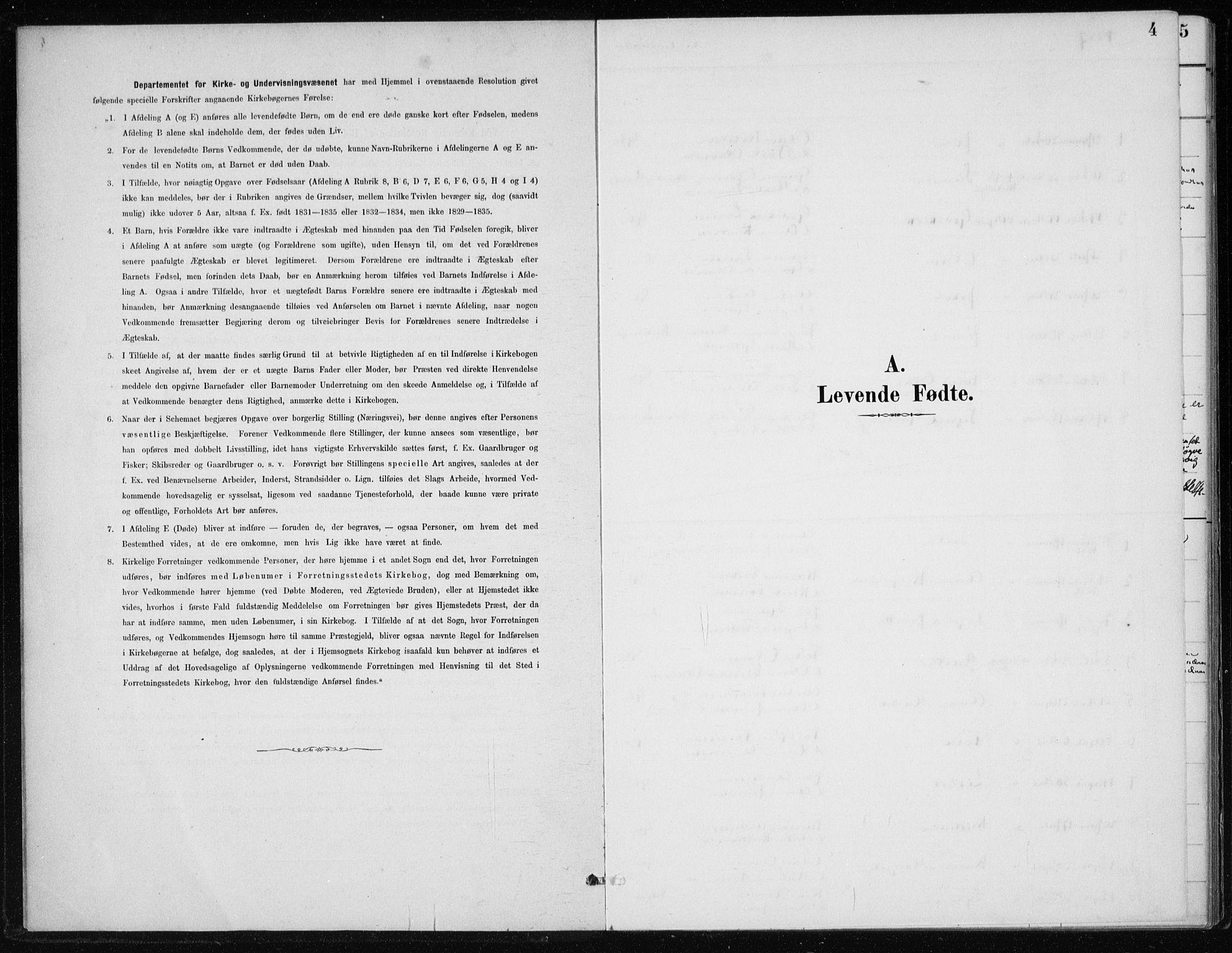 SAB, Kvinnherad Sokneprestembete, H/Haa: Ministerialbok nr. F 1, 1887-1912, s. 4
