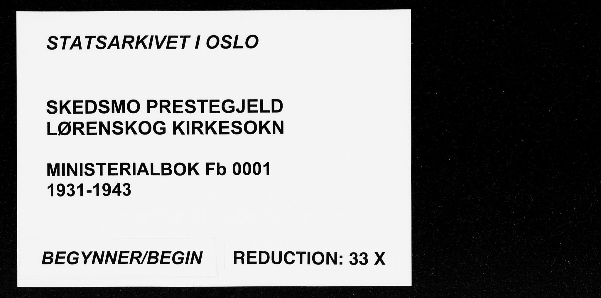 SAO, Skedsmo prestekontor Kirkebøker, F/Fb/L0004: Ministerialbok nr. II 4, 1931-1943