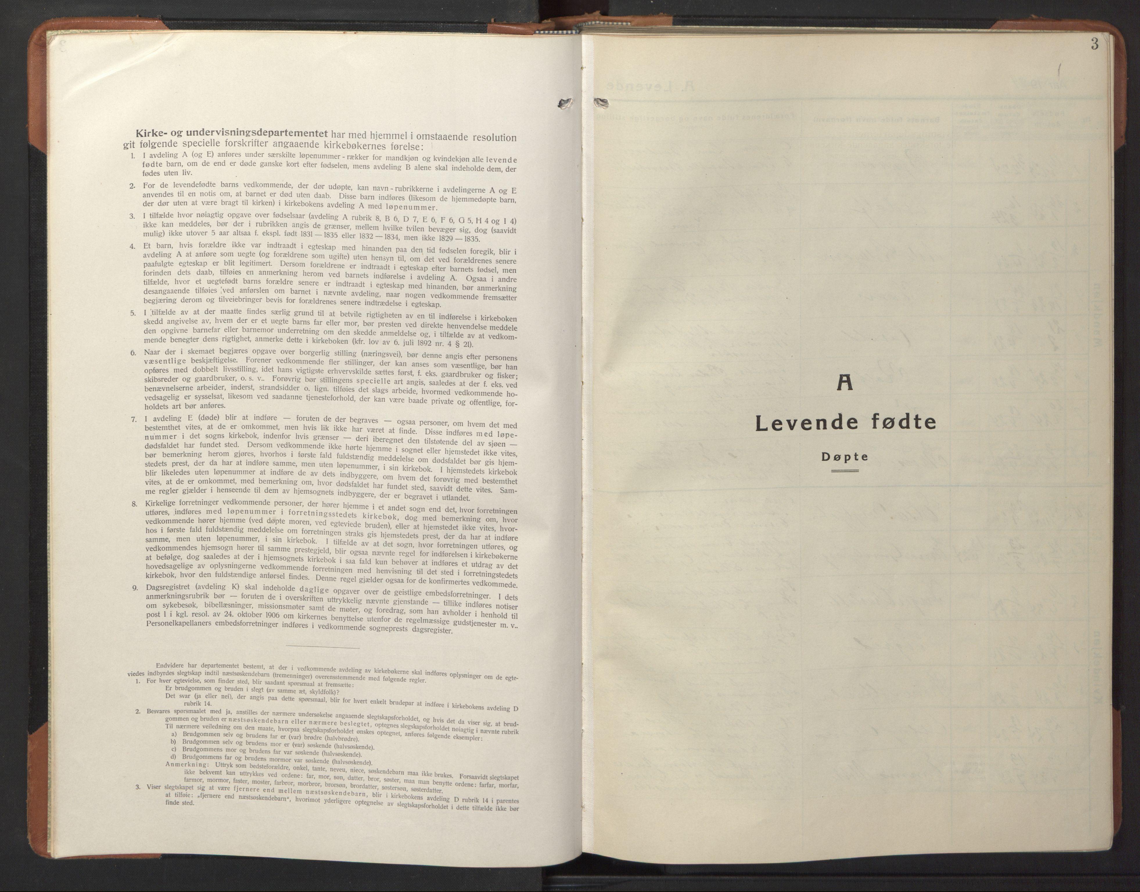 SAT, Ministerialprotokoller, klokkerbøker og fødselsregistre - Nord-Trøndelag, 744/L0425: Klokkerbok nr. 744C04, 1924-1947, s. 3