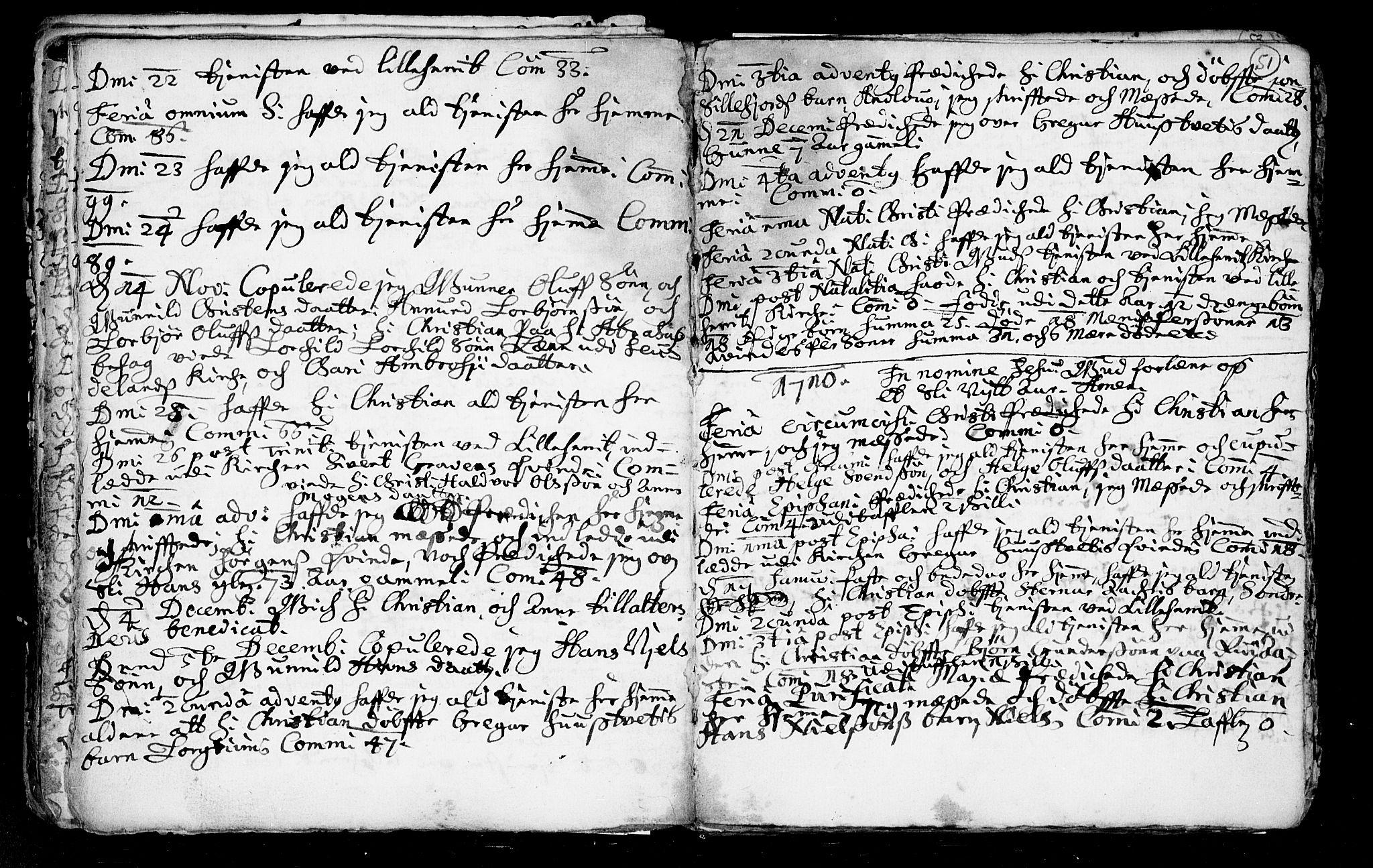 SAKO, Heddal kirkebøker, F/Fa/L0002: Ministerialbok nr. I 2, 1699-1722, s. 51