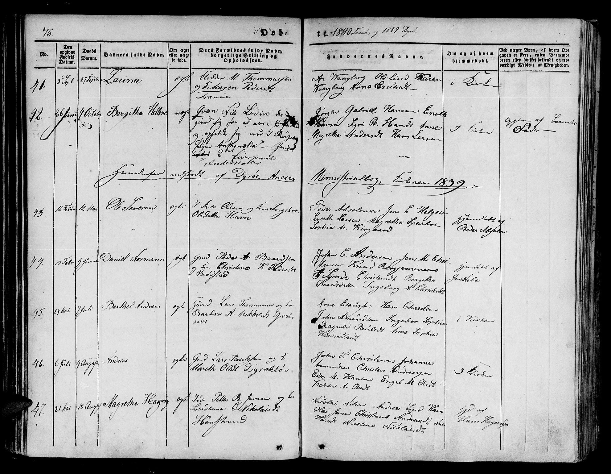 SATØ, Tranøy sokneprestkontor, I/Ia/Iaa/L0005kirke: Ministerialbok nr. 5, 1829-1844, s. 76