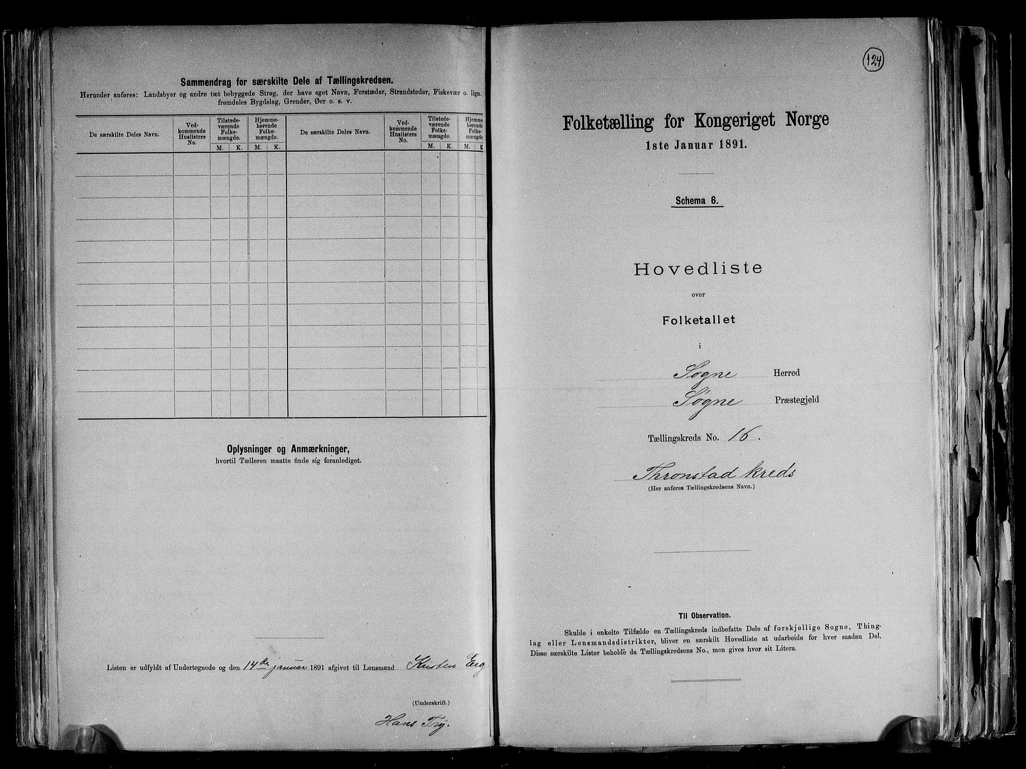 RA, Folketelling 1891 for 1018 Søgne herred, 1891, s. 40