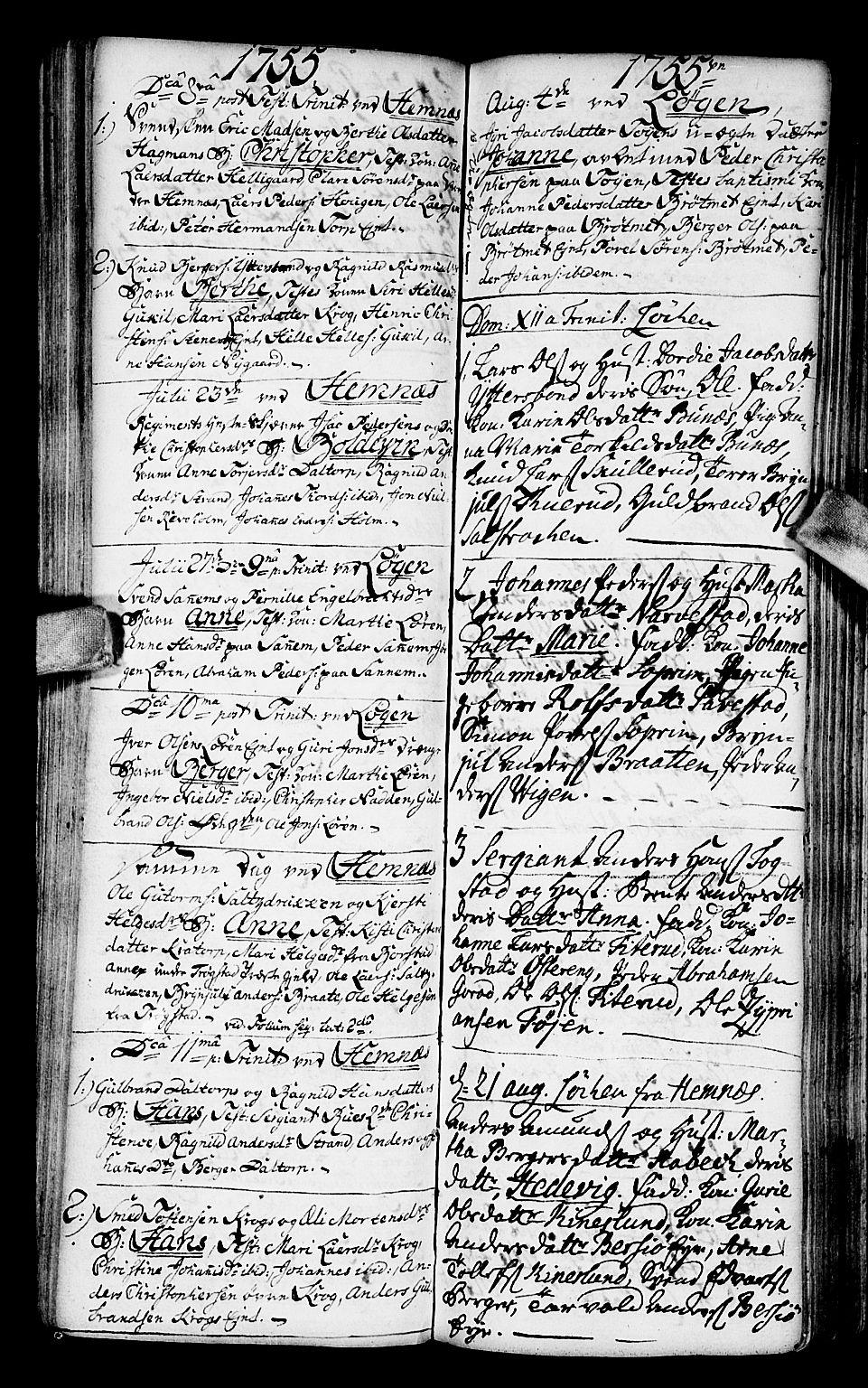 SAO, Høland prestekontor Kirkebøker, F/Fa/L0003: Ministerialbok nr. I 3, 1739-1756