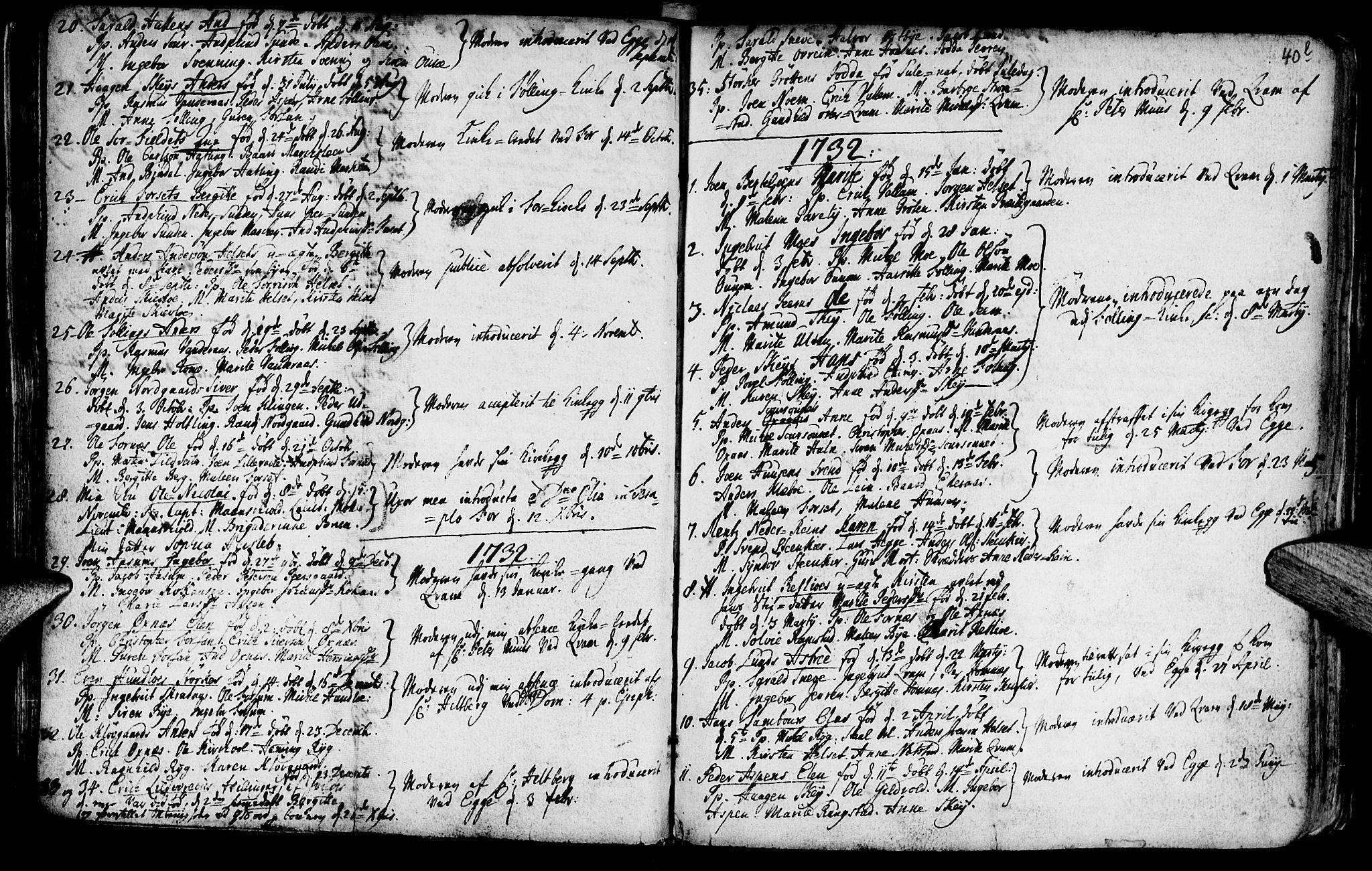 SAT, Ministerialprotokoller, klokkerbøker og fødselsregistre - Nord-Trøndelag, 746/L0439: Ministerialbok nr. 746A01, 1688-1759, s. 40l