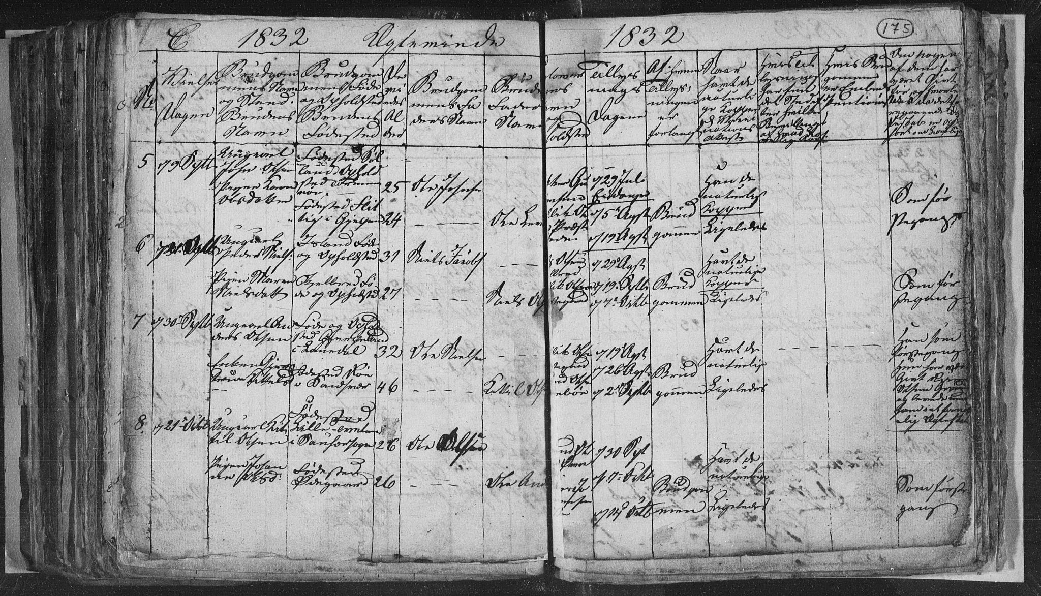 SAKO, Siljan kirkebøker, G/Ga/L0001: Klokkerbok nr. 1, 1827-1847, s. 175