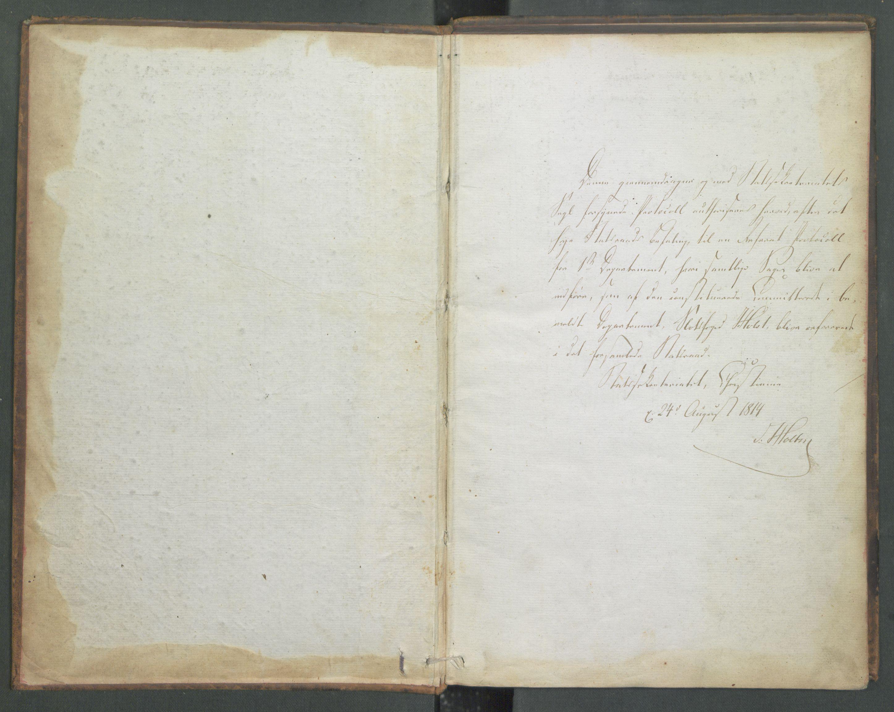 RA, Departementene i 1814, Fa/L0001: 1. byrå - Referatprotokoll m/ register 9-55, 1814, s. 3