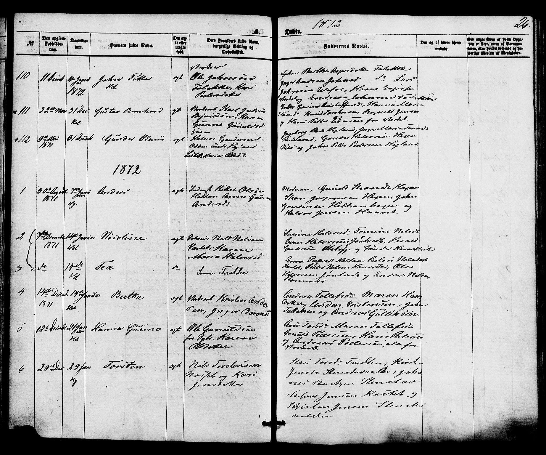 SAKO, Holla kirkebøker, F/Fa/L0007: Ministerialbok nr. 7, 1869-1881, s. 26