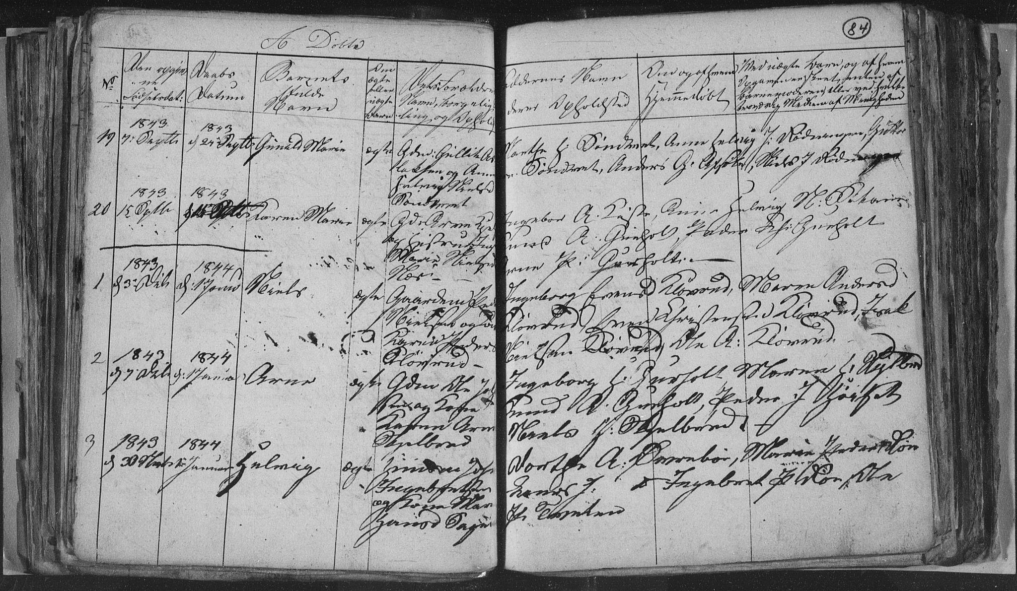 SAKO, Siljan kirkebøker, G/Ga/L0001: Klokkerbok nr. 1, 1827-1847, s. 84