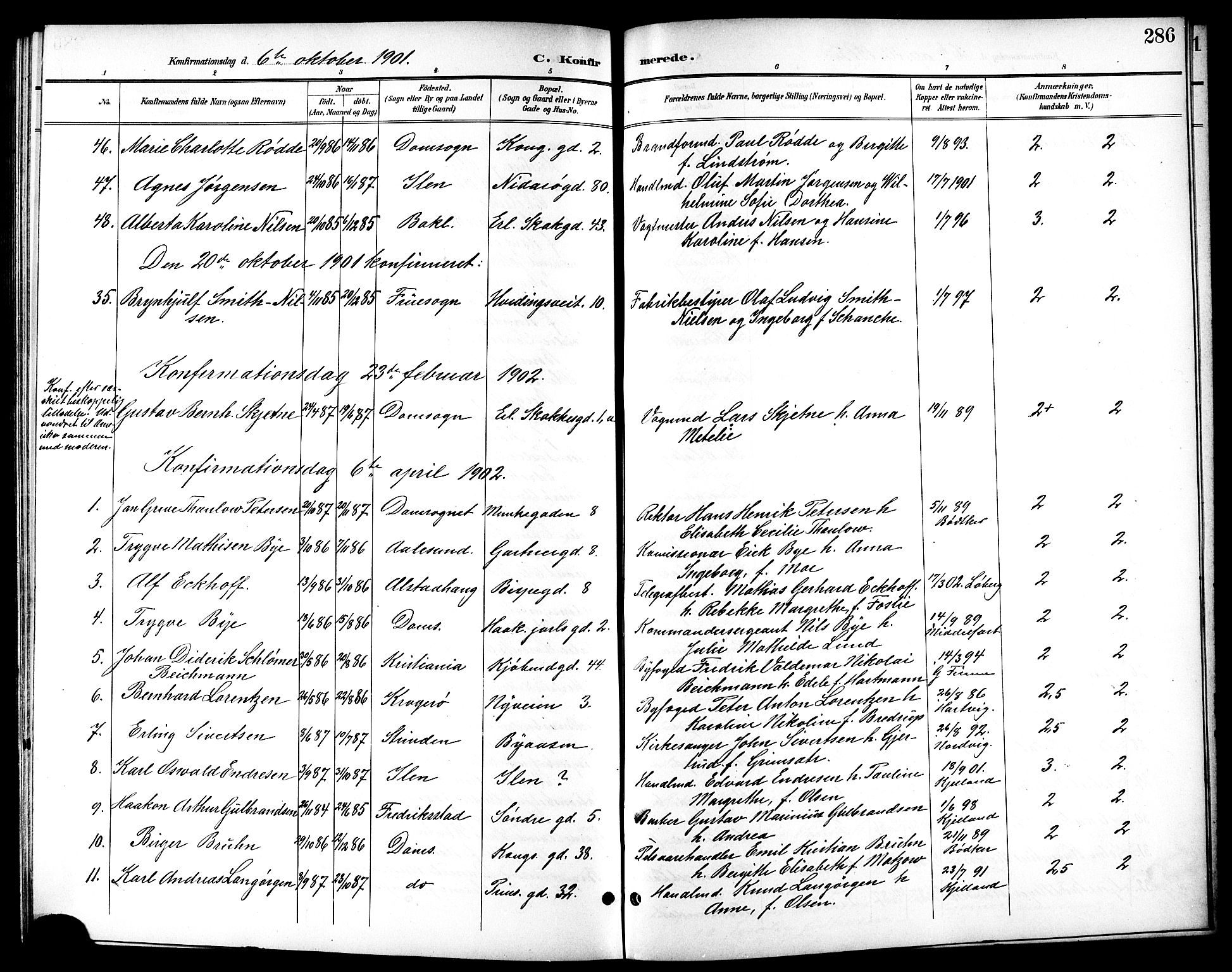 SAT, Ministerialprotokoller, klokkerbøker og fødselsregistre - Sør-Trøndelag, 601/L0094: Klokkerbok nr. 601C12, 1898-1911, s. 286