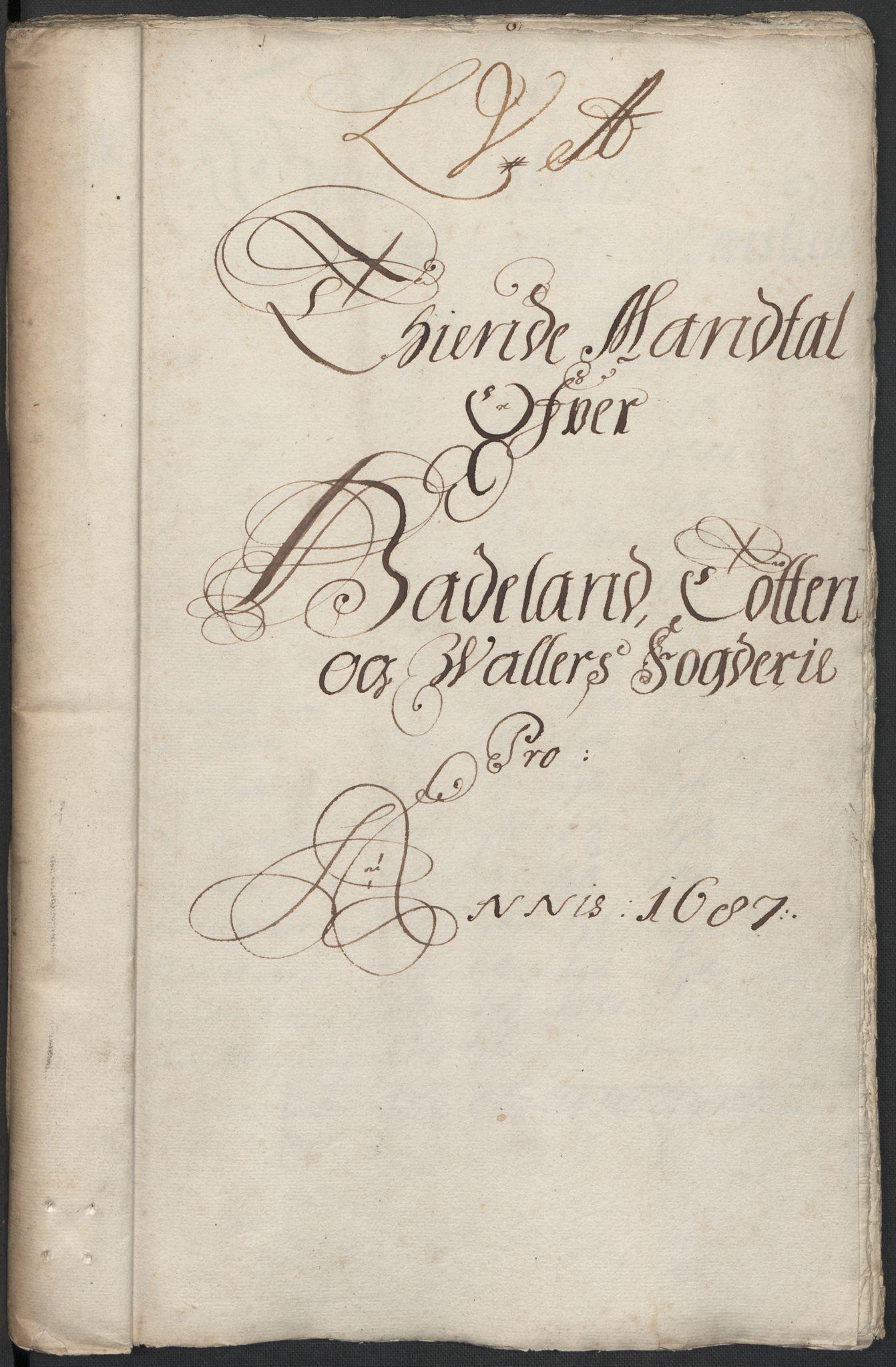 RA, Rentekammeret inntil 1814, Reviderte regnskaper, Fogderegnskap, R18/L1286: Fogderegnskap Hadeland, Toten og Valdres, 1687, s. 102