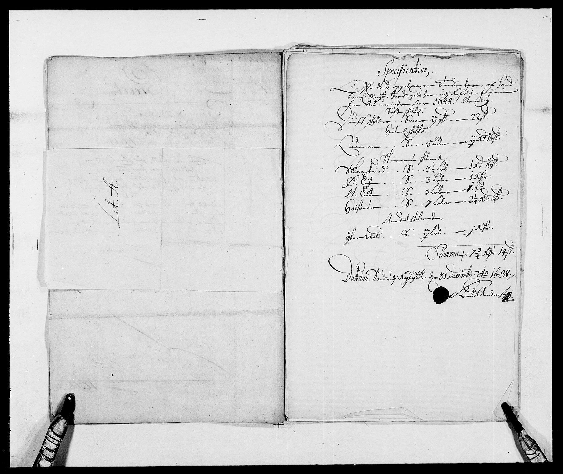 RA, Rentekammeret inntil 1814, Reviderte regnskaper, Fogderegnskap, R47/L2855: Fogderegnskap Ryfylke, 1685-1688, s. 338